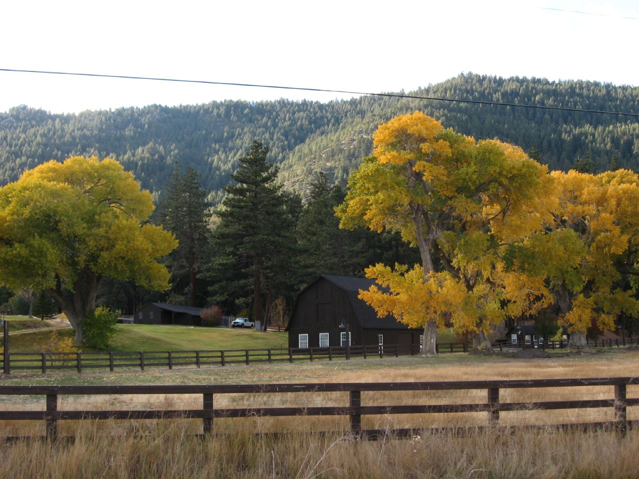 Autumn on Franktown Road, Washoe Valley, Nevada