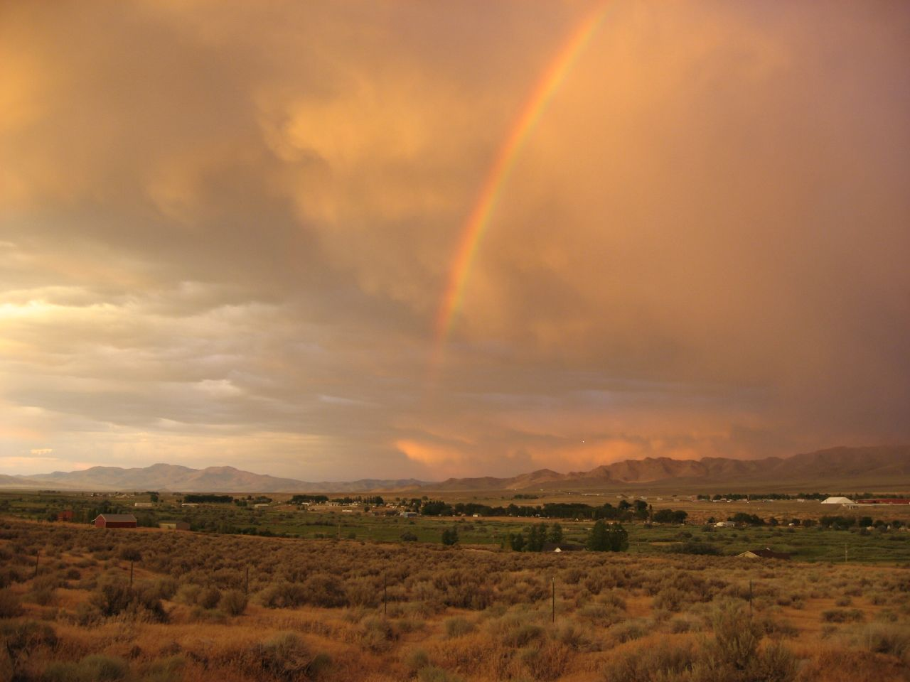 Sunset Rainbow, Winnemucca, Nevada