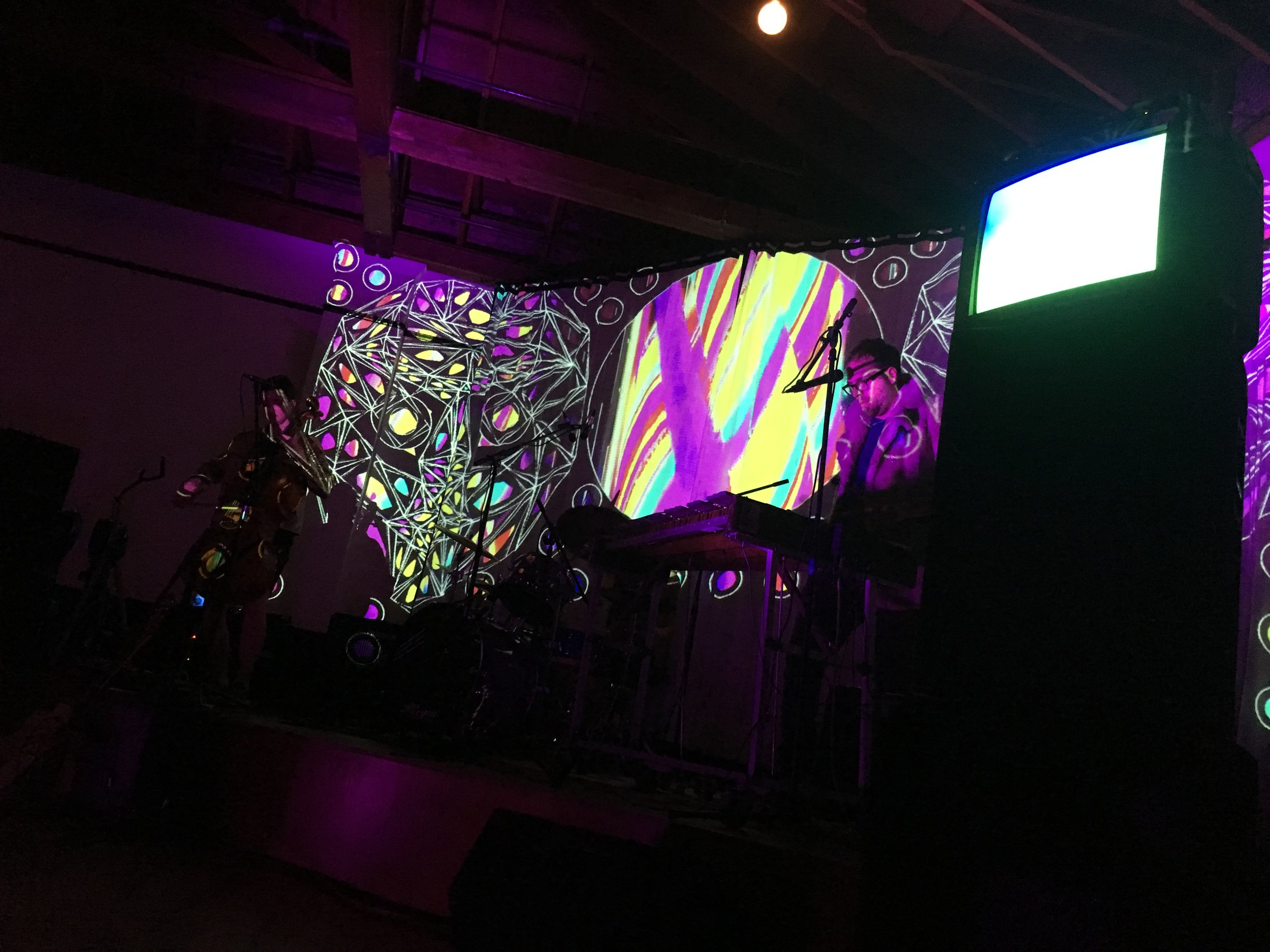 Live visuals for Human Ottoman @ the Baker Building in PDX