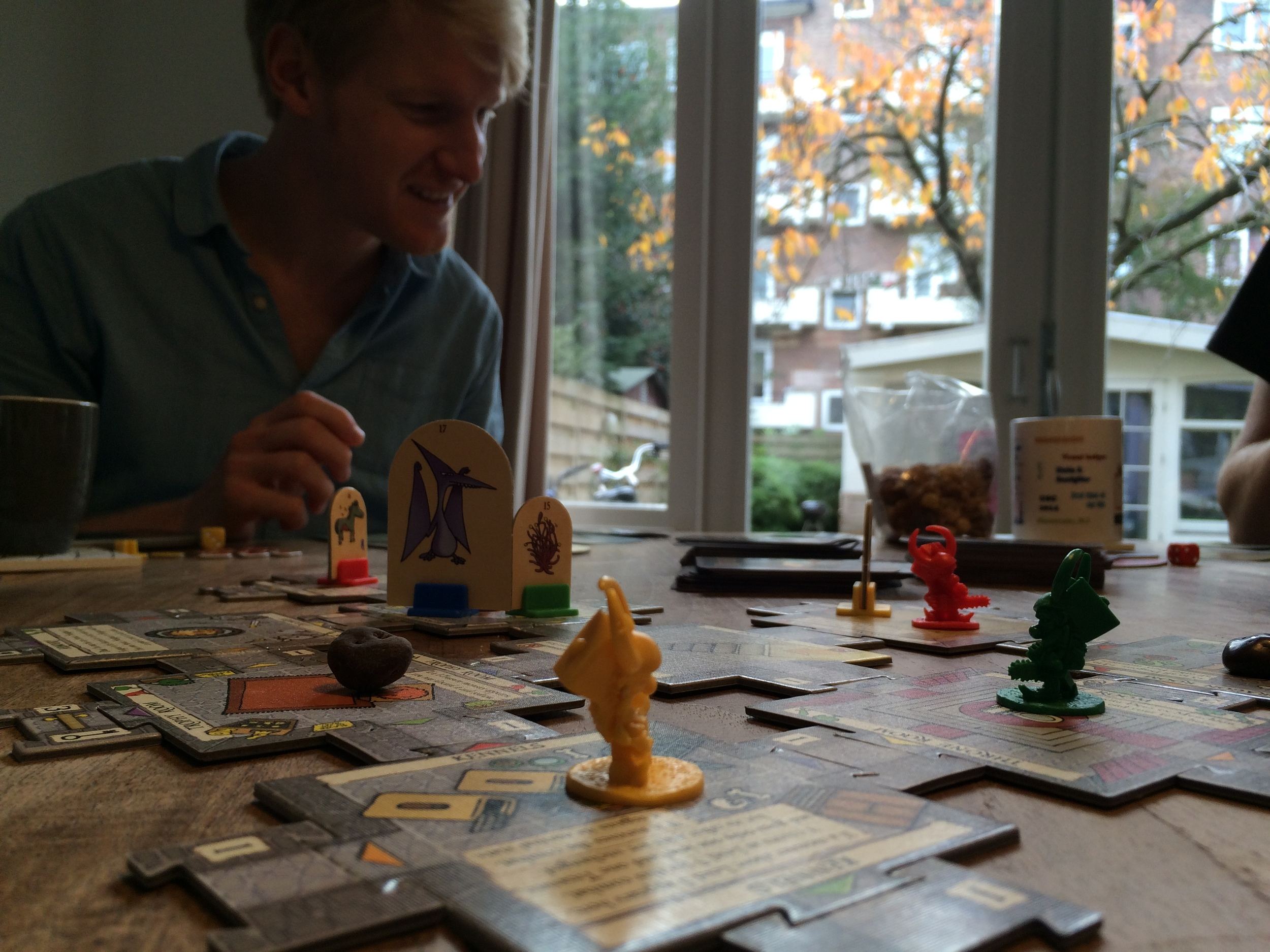 Playing Munchkin Quest with friends. Such a fun game!
