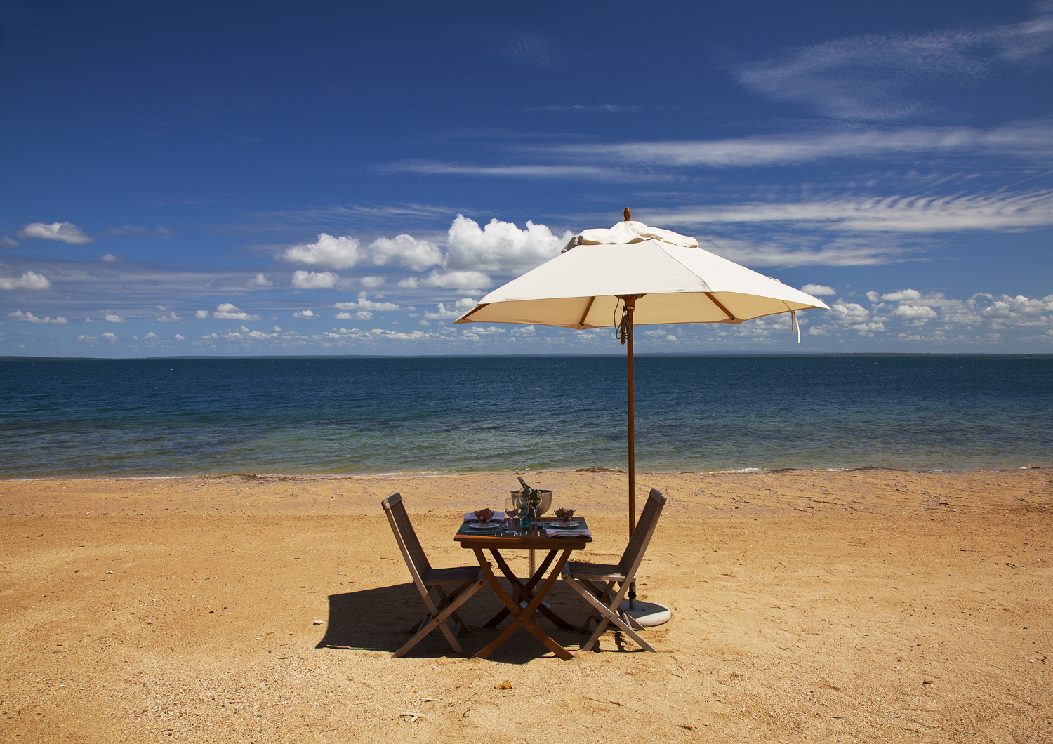 Let us pamper you on your private beach