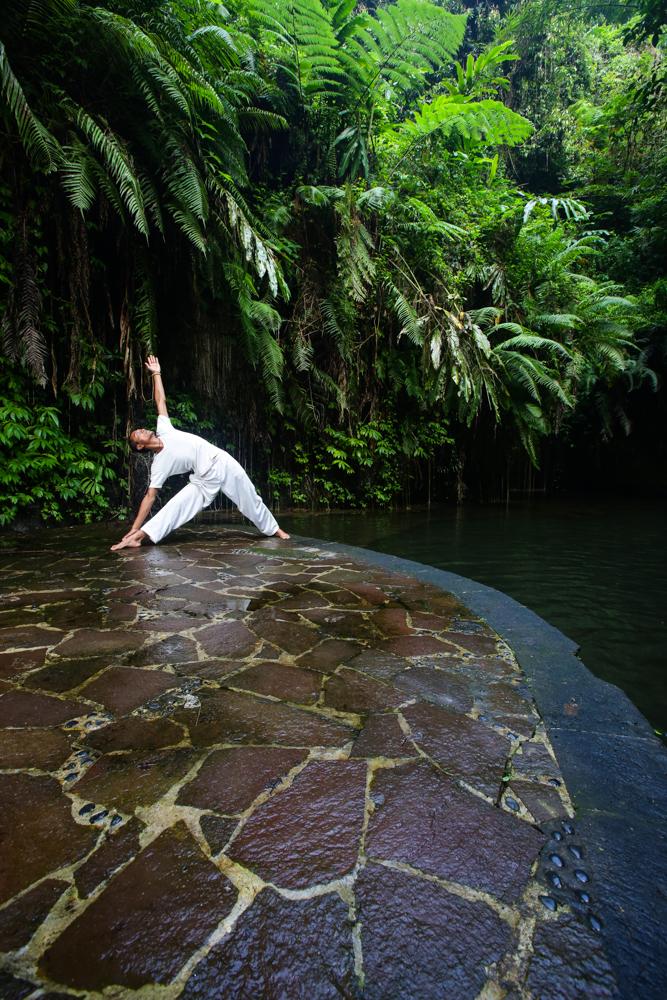 UBUD , BALI - JULY 5th: Yoga at Bagus Jati Detox Resort and Spa in Ubud, Bali 2014. Photo by Gaye Gerard