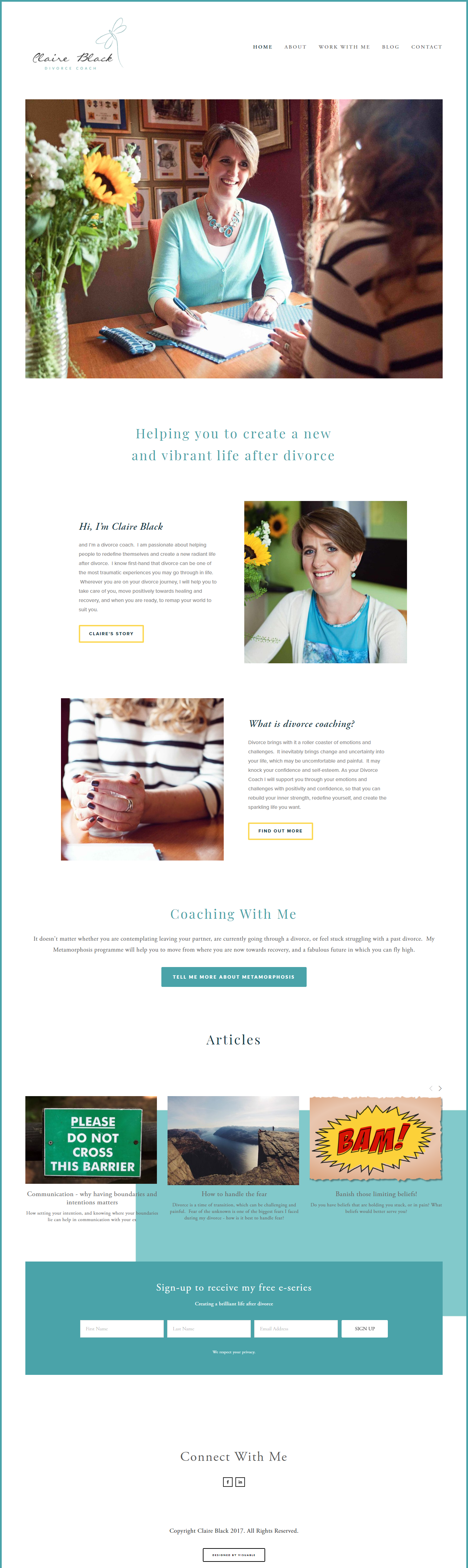 Web Design in Bristol for Claire Black by Visuable