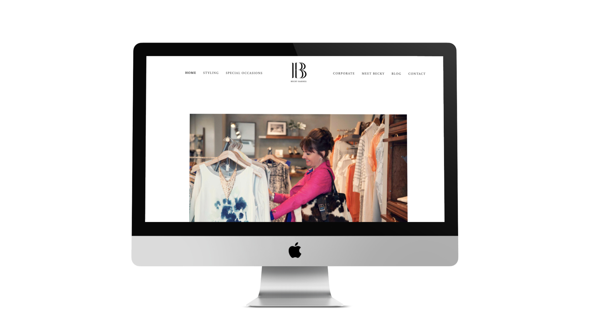 Web Design in Bristol for Becky Barnes by Visuable