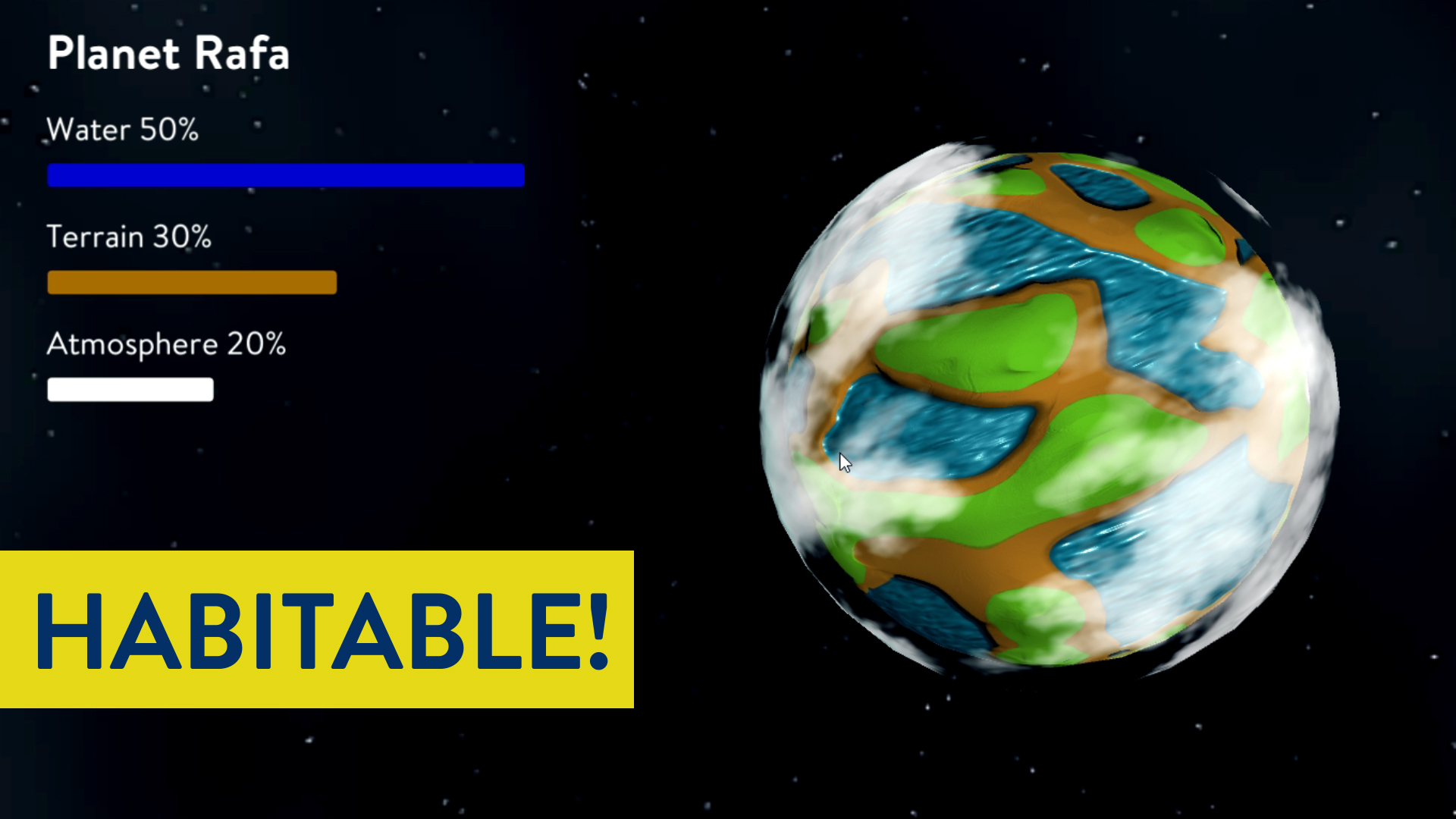Project 1: Planet Generator — 0-1 Space