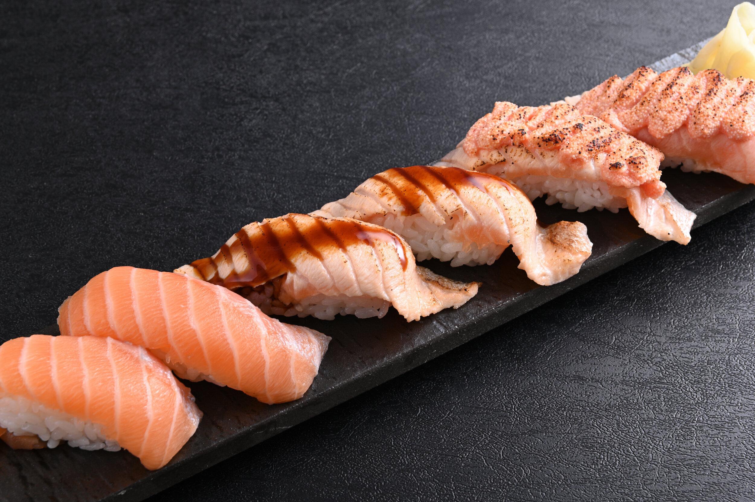 3 Kind Salmon Sushi $11.90