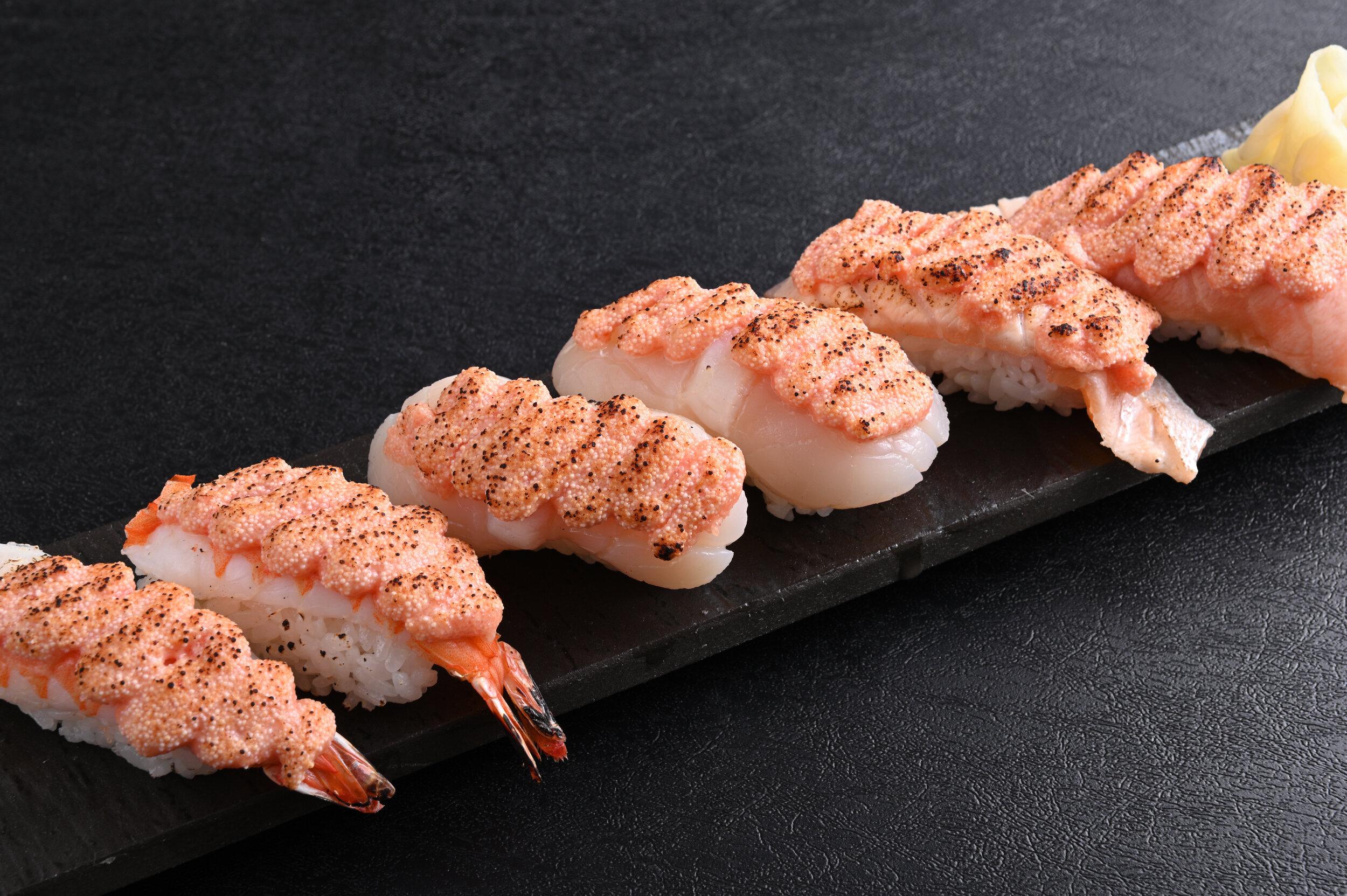 3 Meitai Aburi Sushi $14.90
