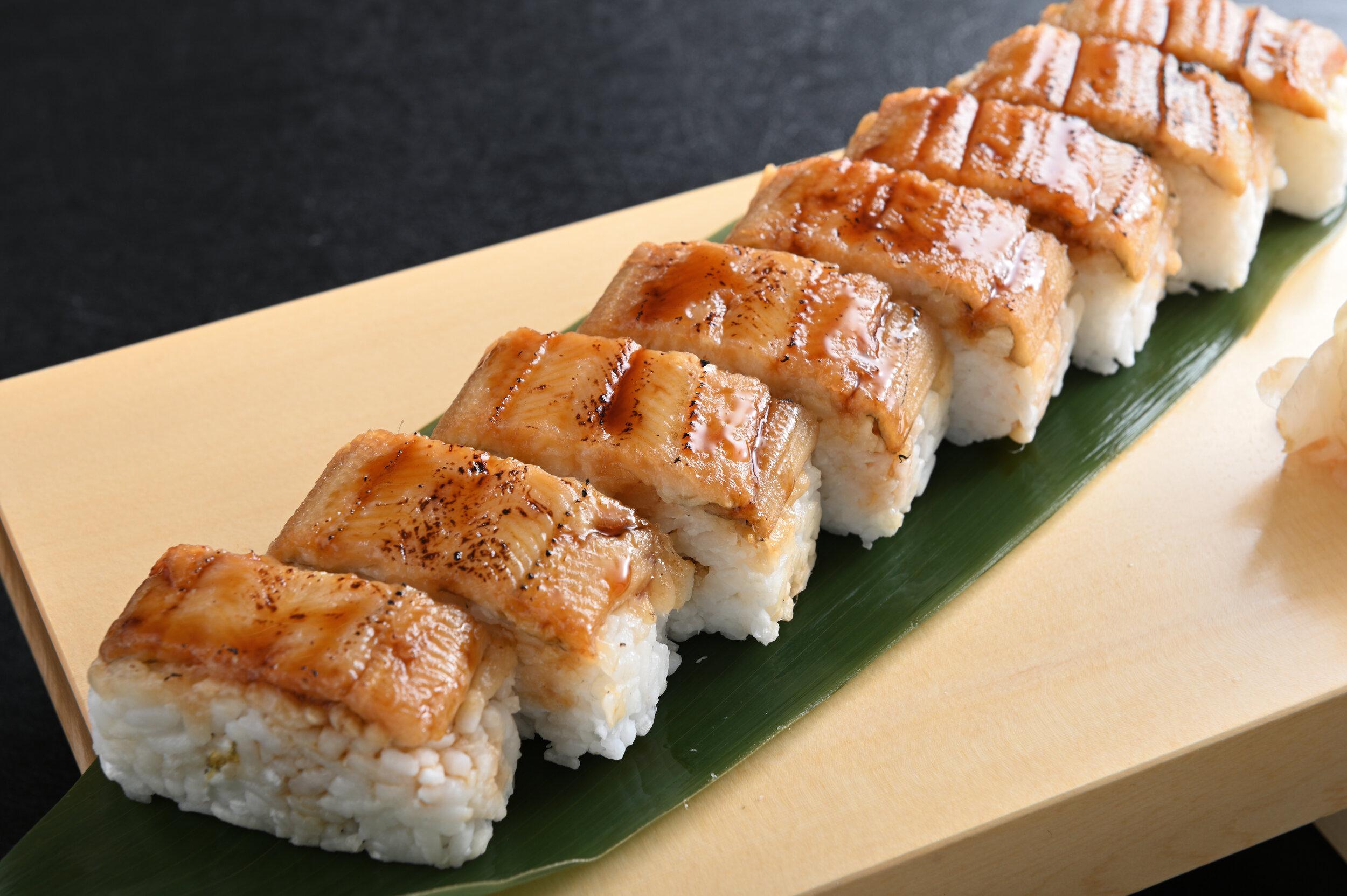 Aburi Anago Bou Sushi $24.90