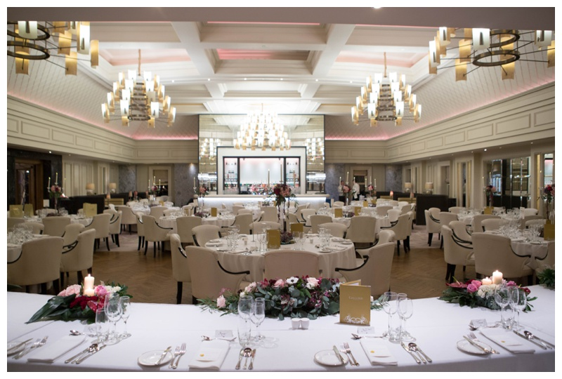 Their reception was held in the stunning  Renaissance Suite , inspired by Art Deco.
