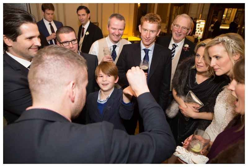 Close-up magician,  Rodd Hogg  was the highlight of their drinks reception, he left everyone amazed and astounded!