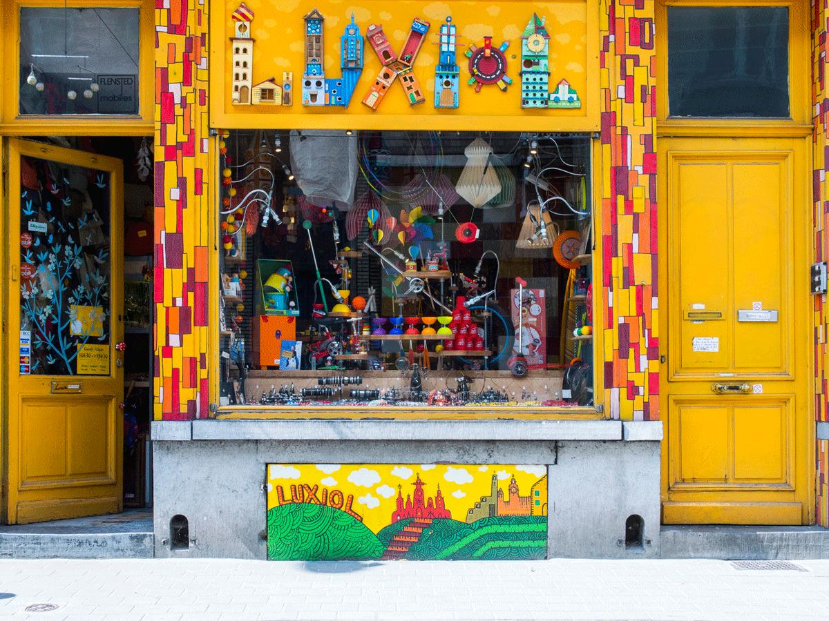 Magasin de jouets à Bruxelles