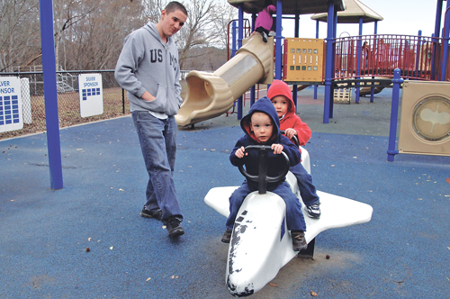 The right surface can make playground play safer. Photo courtesy of Randy Gaddo