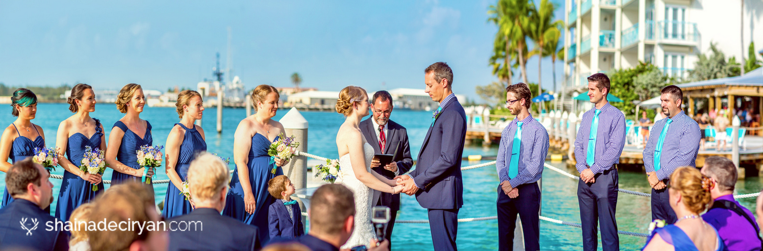 Jason and Jennifer Key West Hyatt Destination wedding