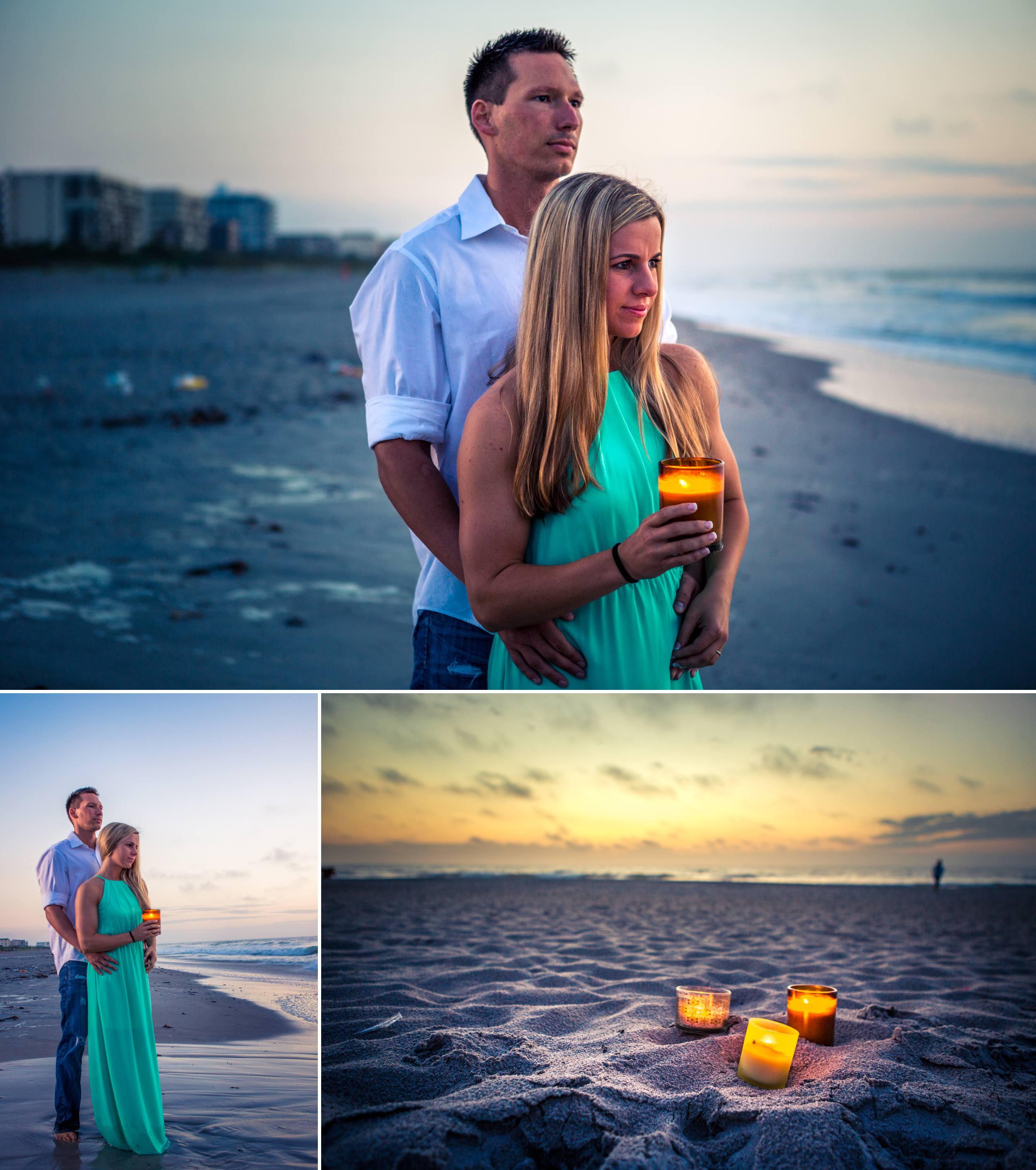 Lori Wilson Park Cocoa Beach Sunrise Engagement Session Mint Green dress- Bri 1.jpg