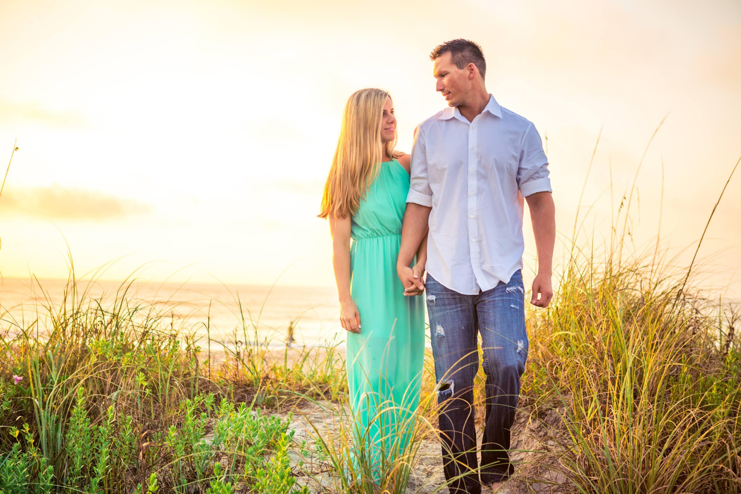 Lori Wilson Park Cocoa Beach Sunrise Engagement Session Mint Green dress- Bri 10.jpg