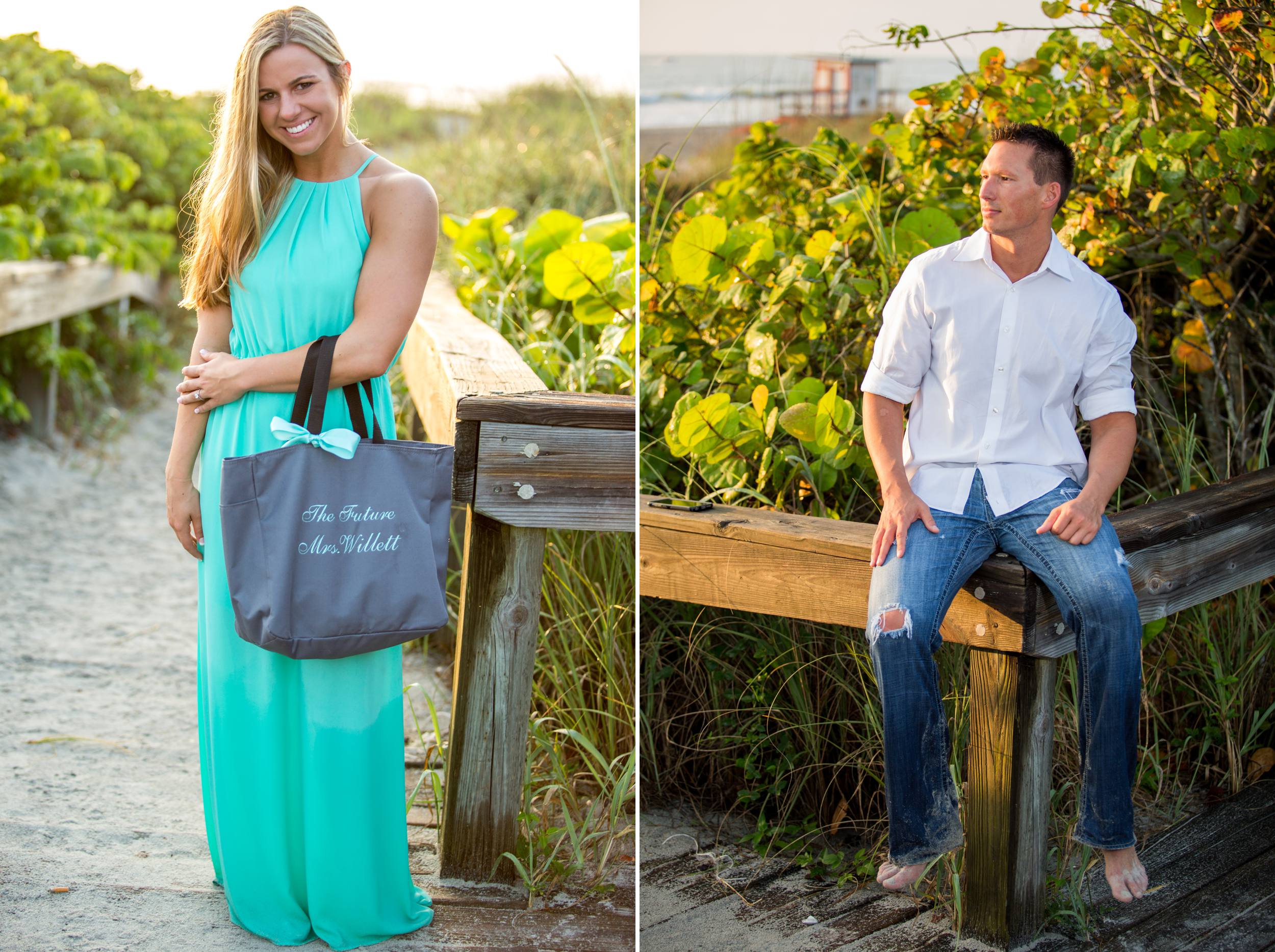 Lori Wilson Park Cocoa Beach Sunrise Engagement Session Mint Green dress- Bri 13.jpg