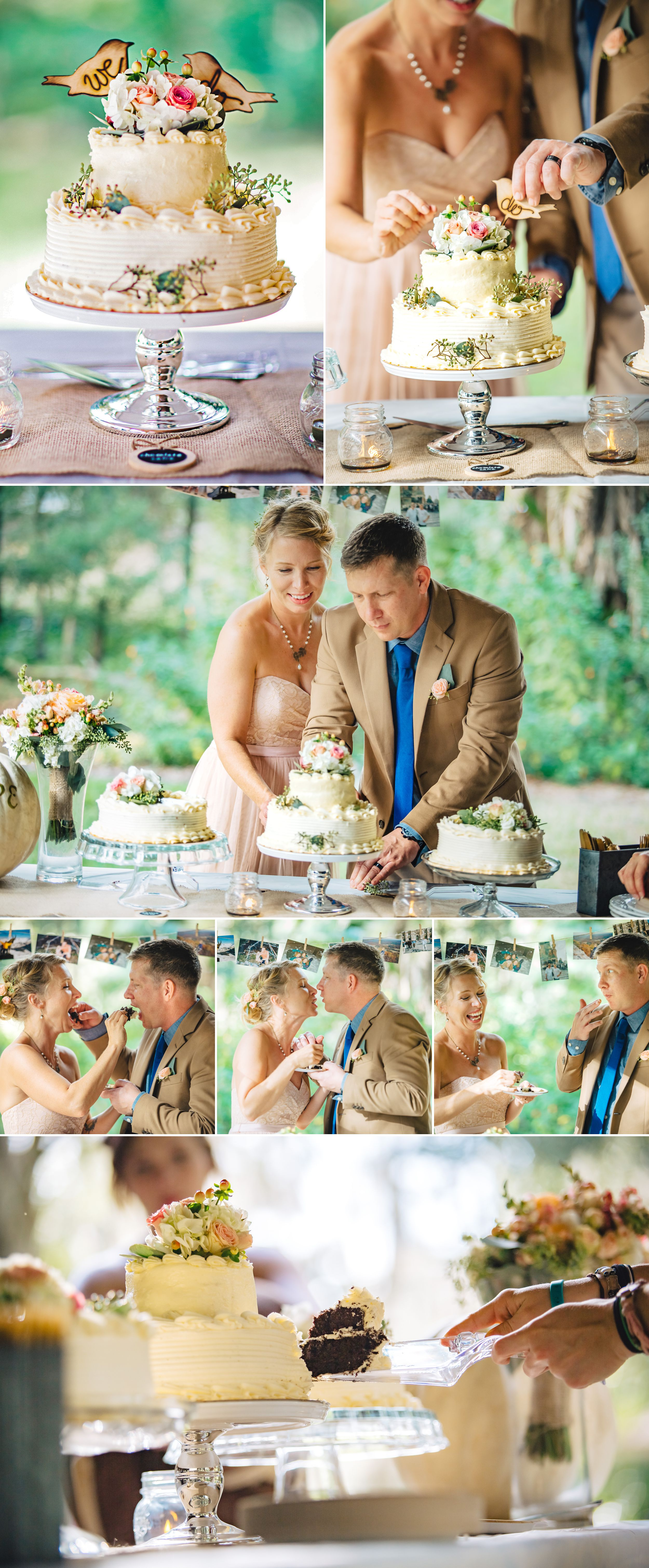 Outdoor Wedding Cake Cutting Photography Langford Park Orlando.jpg