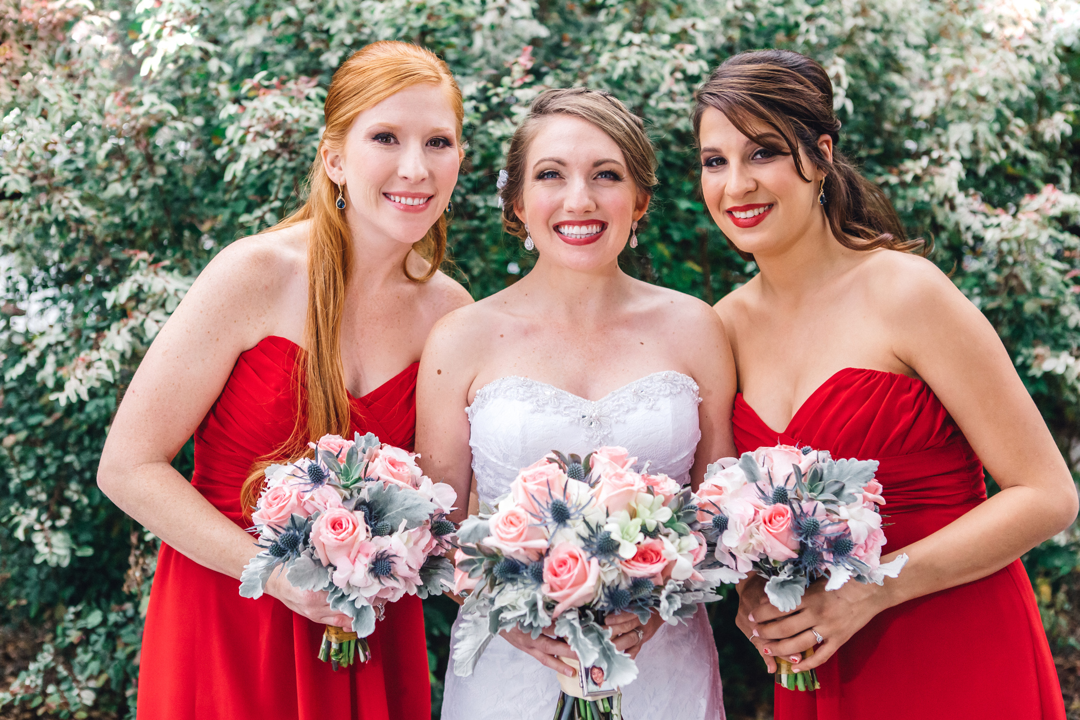 Downtown Orlando Wedding at Lake Lucerne Christmas Theme Red Dress Navy Suits 045.jpg