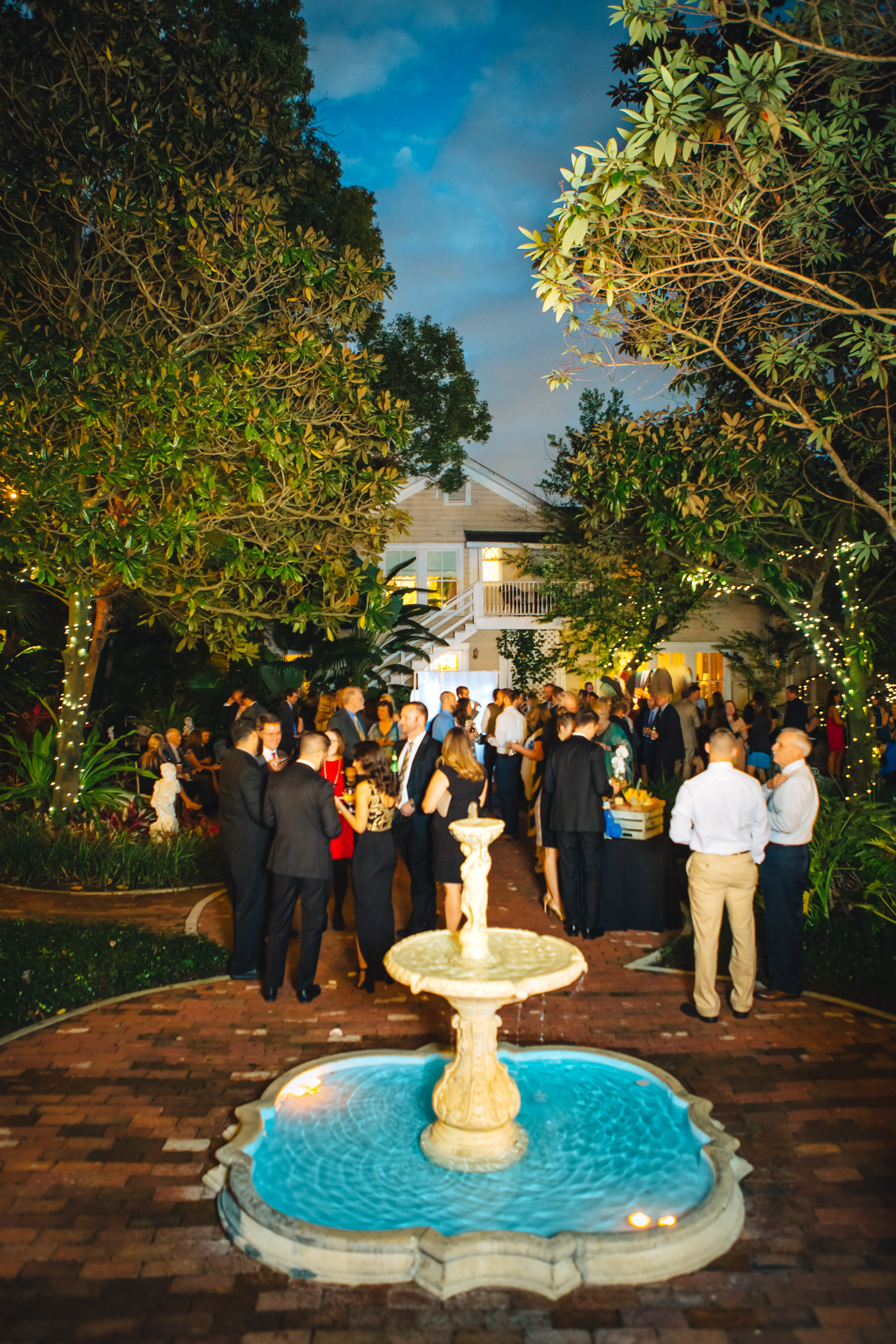 Downtown Orlando Wedding at Lake Lucerne Christmas Theme Red Dress Navy Suits 135.jpg
