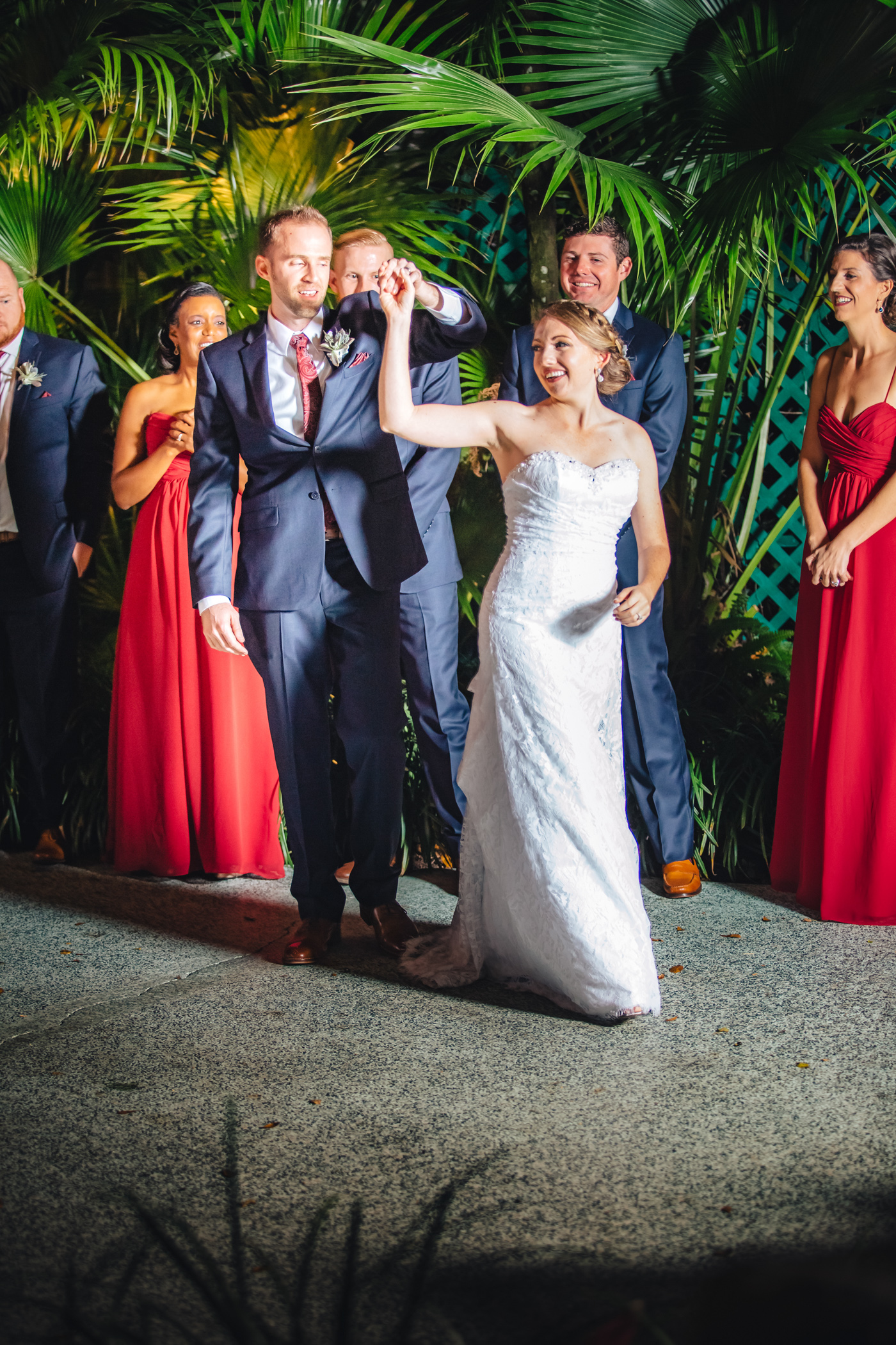 Downtown Orlando Wedding at Lake Lucerne Christmas Theme Red Dress Navy Suits 147.jpg