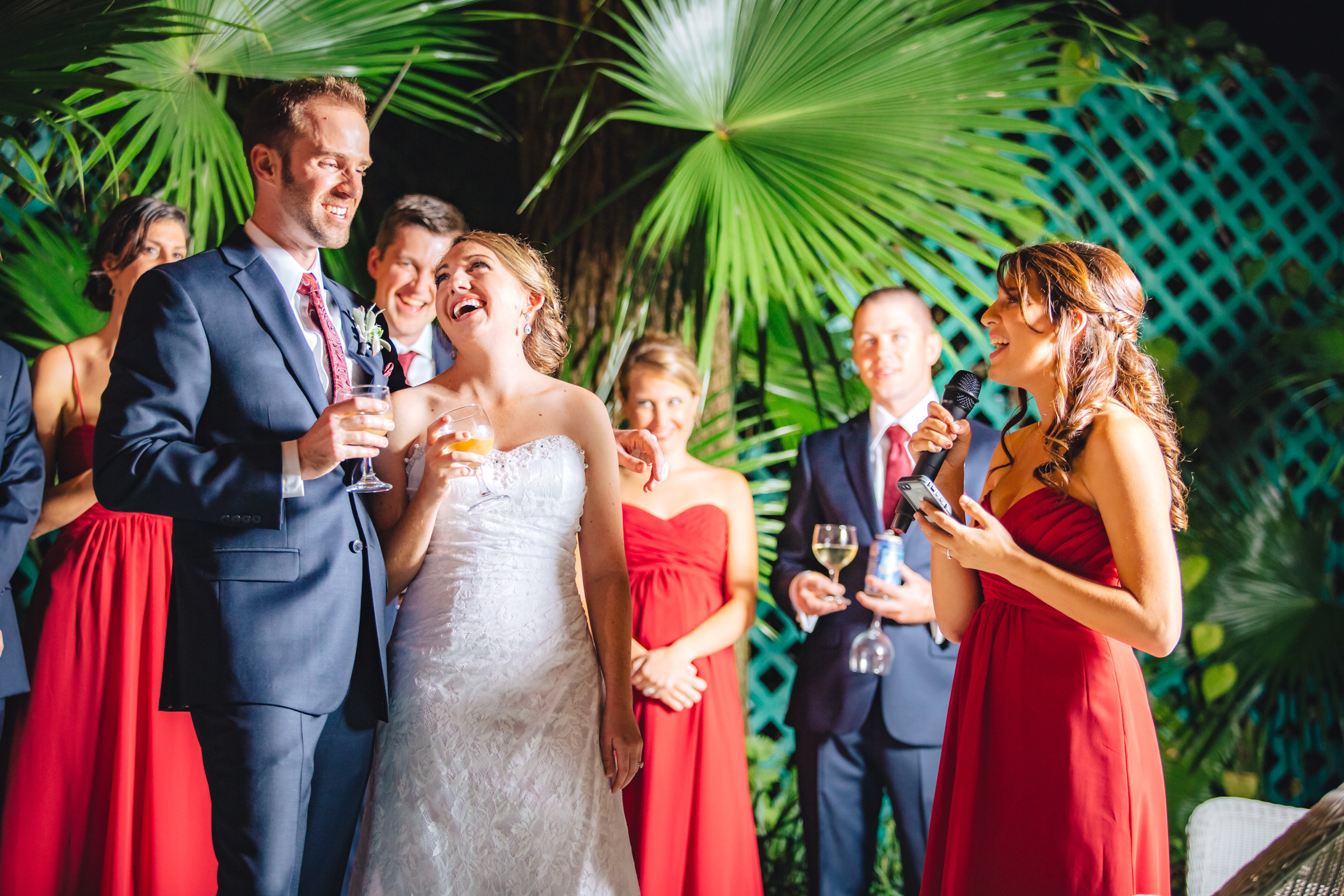 Downtown Orlando Wedding at Lake Lucerne Christmas Theme Red Dress Navy Suits 152.jpg