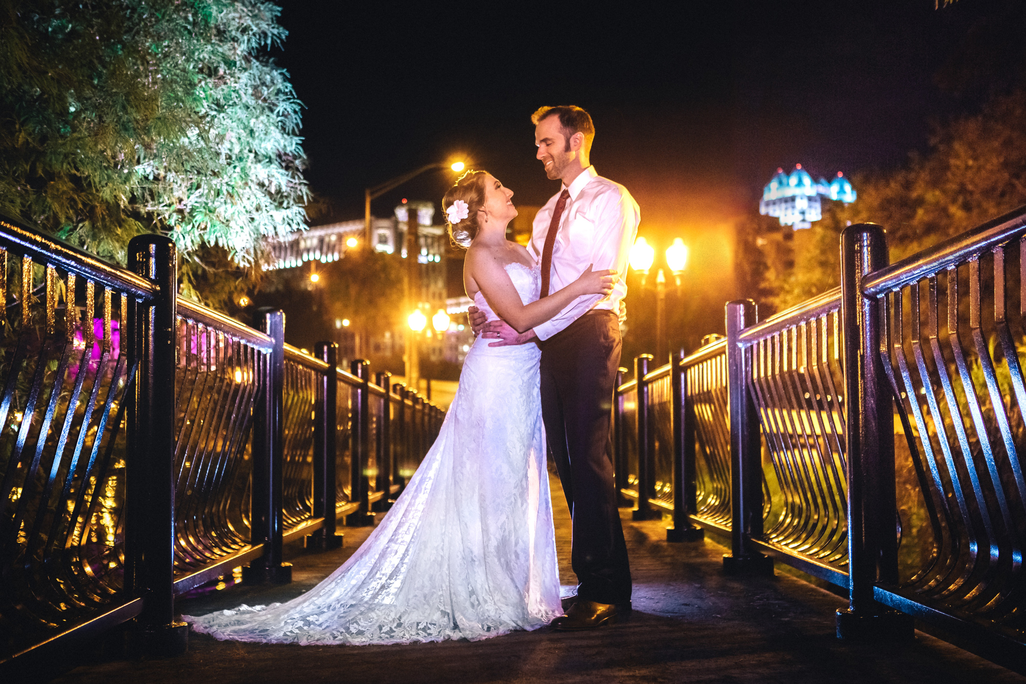Downtown Orlando Wedding at Lake Lucerne Christmas Theme Red Dress Navy Suits 213.jpg