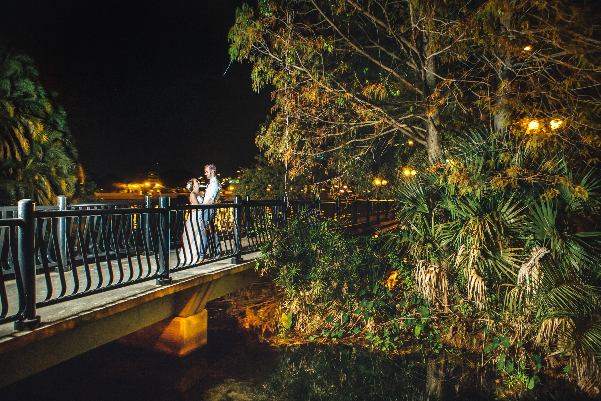 Downtown Orlando Wedding at Lake Lucerne Christmas Theme Red Dress Navy Suits 212.jpg