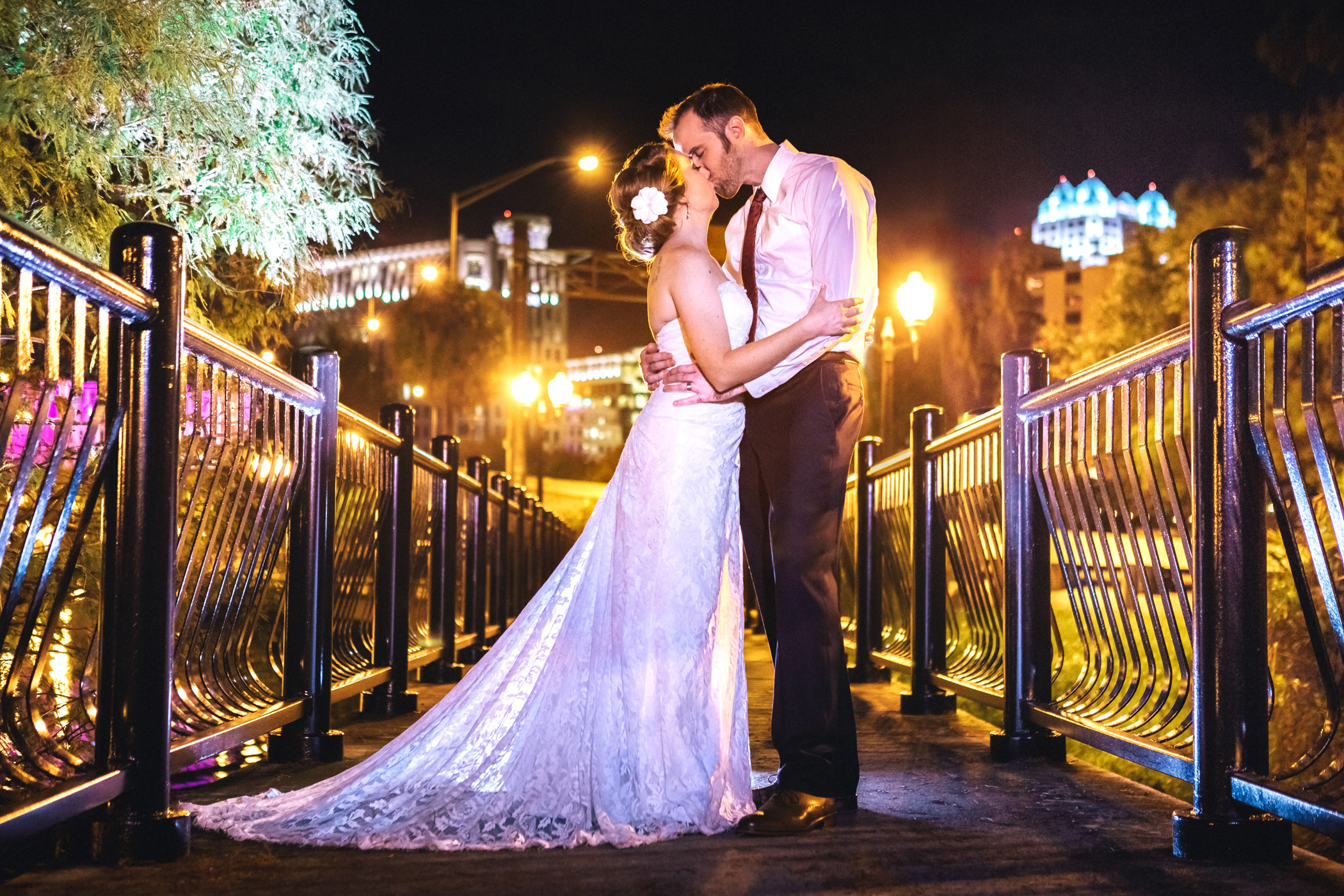 Downtown Orlando Wedding at Lake Lucerne Christmas Theme Red Dress Navy Suits 214.jpg