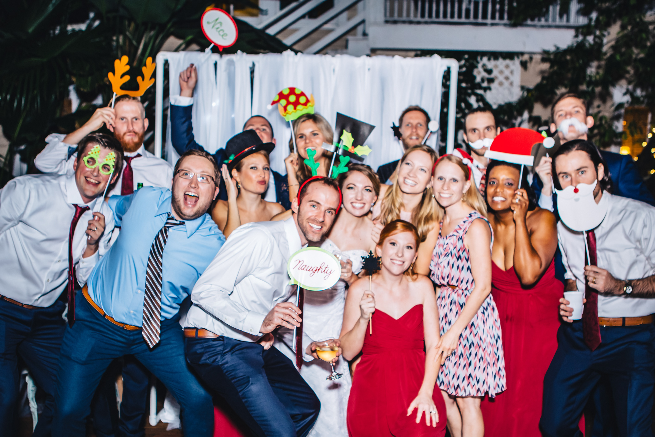 Downtown Orlando Wedding at Lake Lucerne Christmas Theme Red Dress Navy Suits 218.jpg