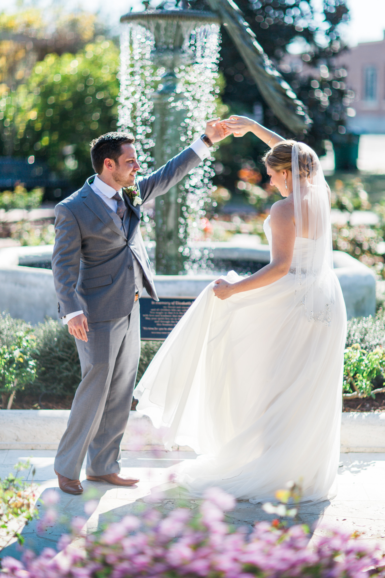 Winter Park Farmer's Market Wedding- Michael & Megan Fine Art Wedding Purple echeveria eucalyptus rose florals5.jpg