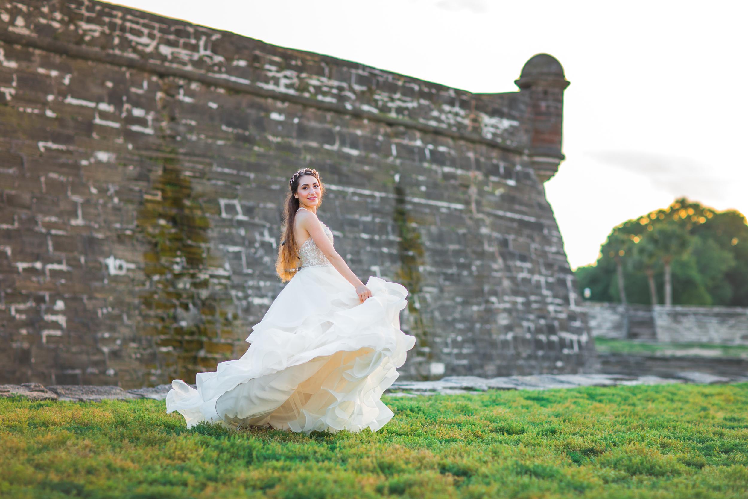 St. Augustine fine art wedding castillo de san marco floral wedding photographer shaina deciryan 75.jpg