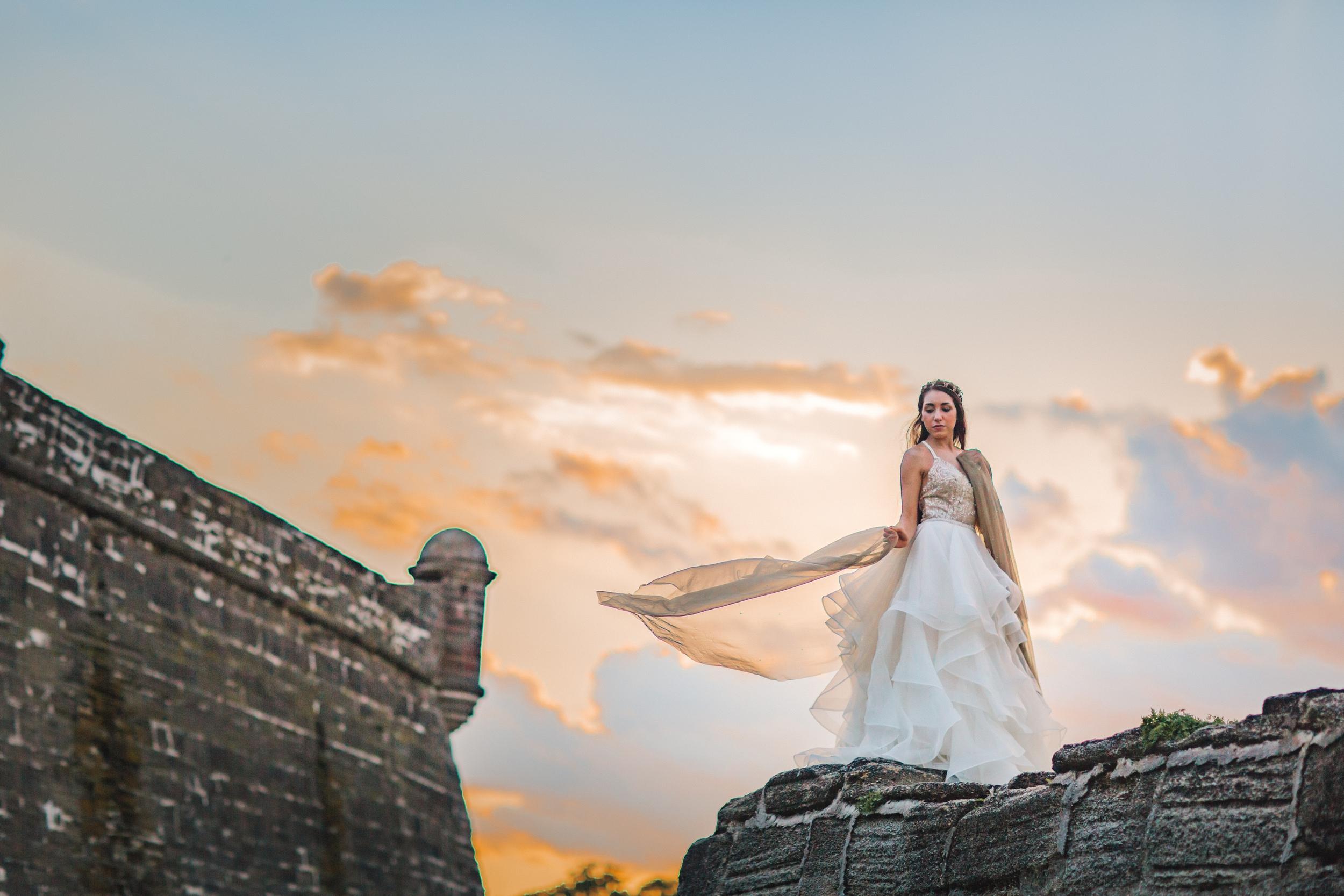 St. Augustine fine art wedding castillo de san marco floral wedding photographer shaina deciryan 80.jpg