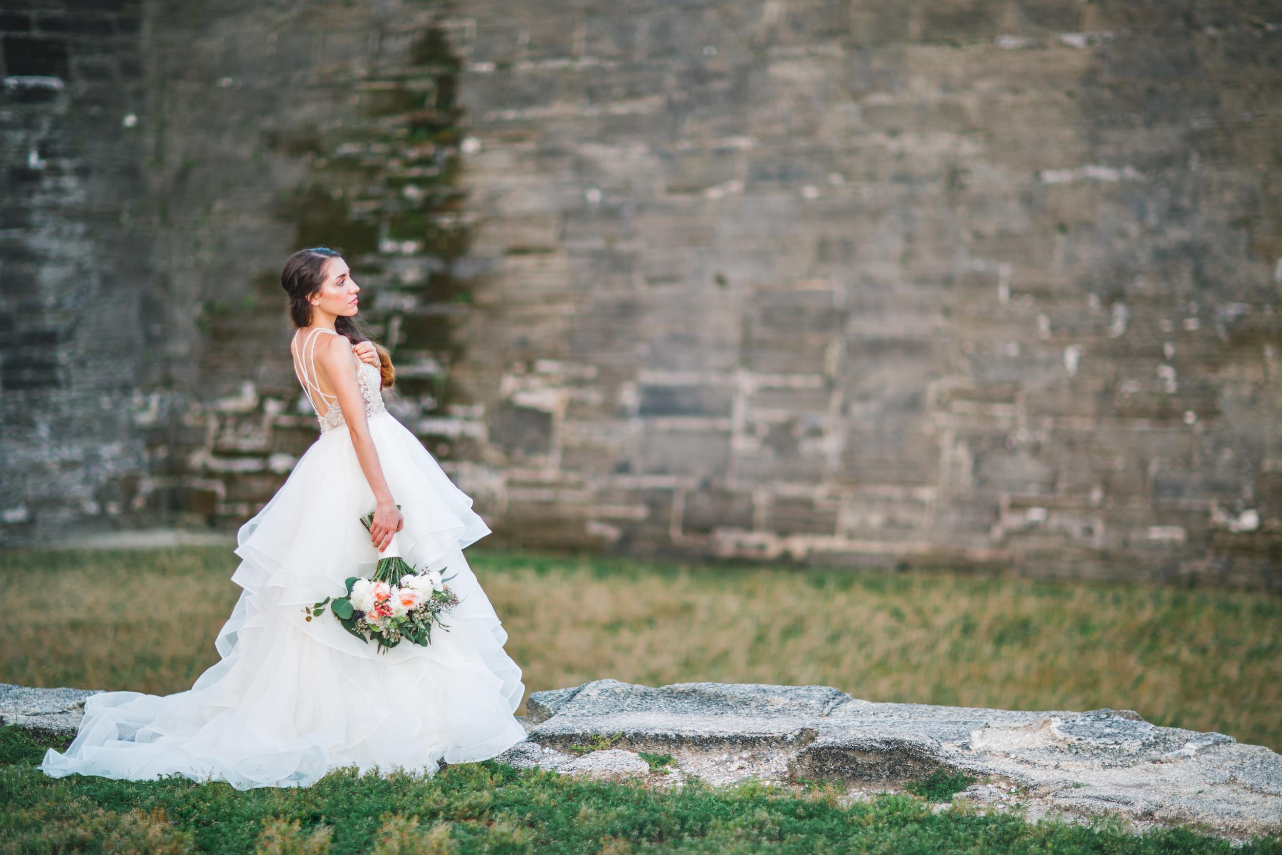 St. Augustine fine art wedding castillo de san marco floral wedding photographer shaina deciryan 97.jpg
