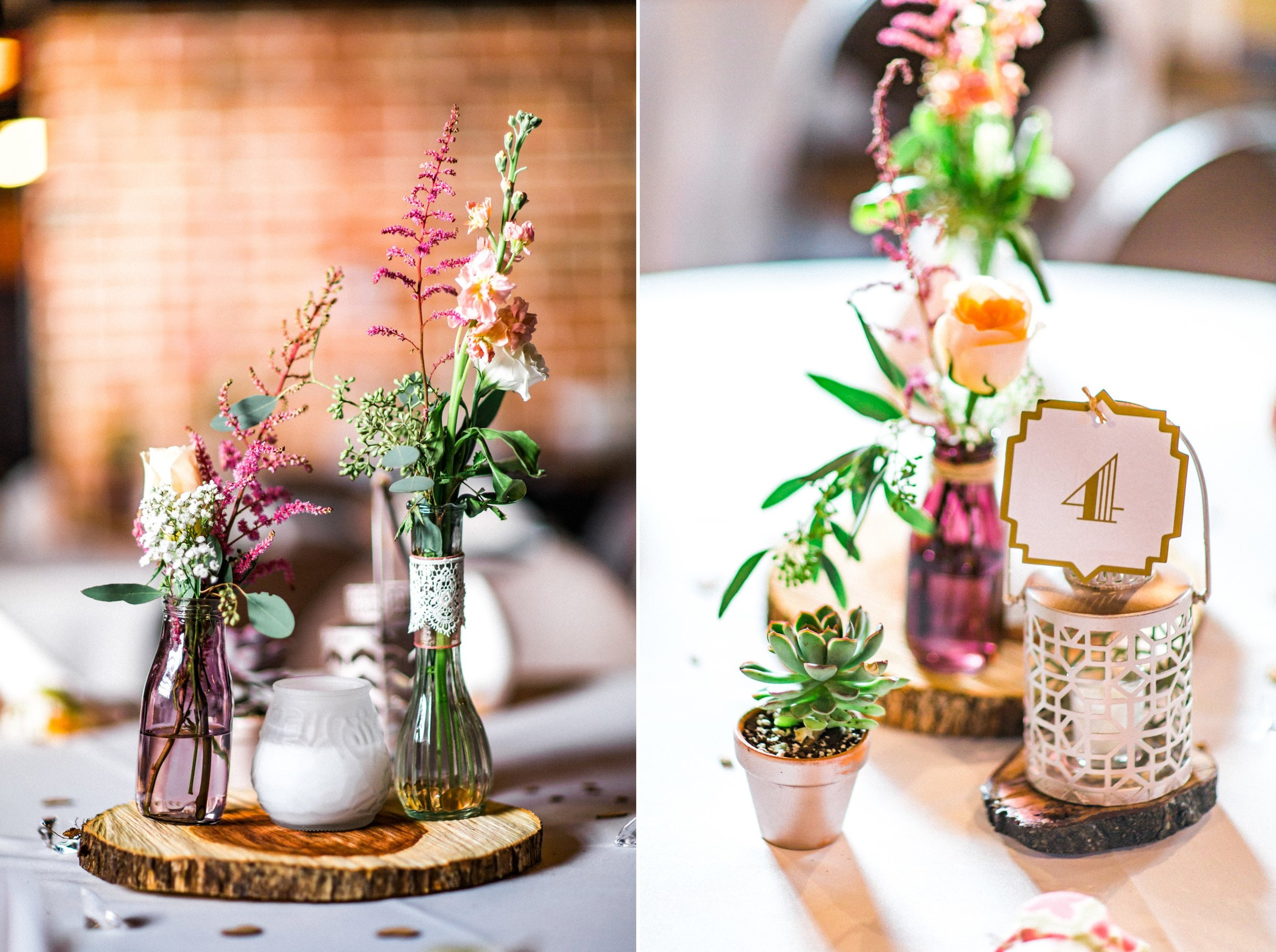 Rustic Chic Gatsby Bicycle themed Wedding Reception at the Winter Park Farmer's Market