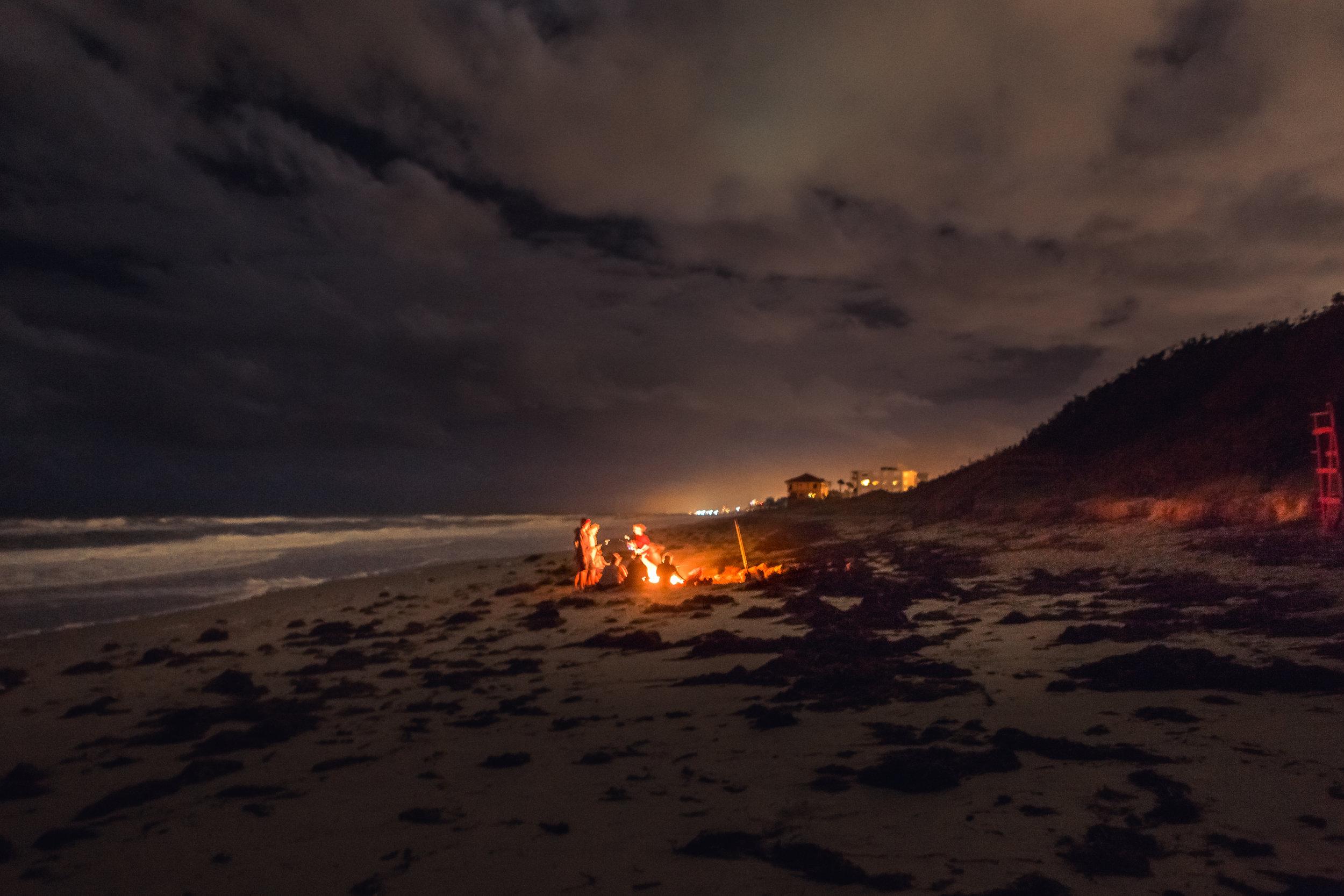 Rising Tide Society Melbourne bonfire beach meetup