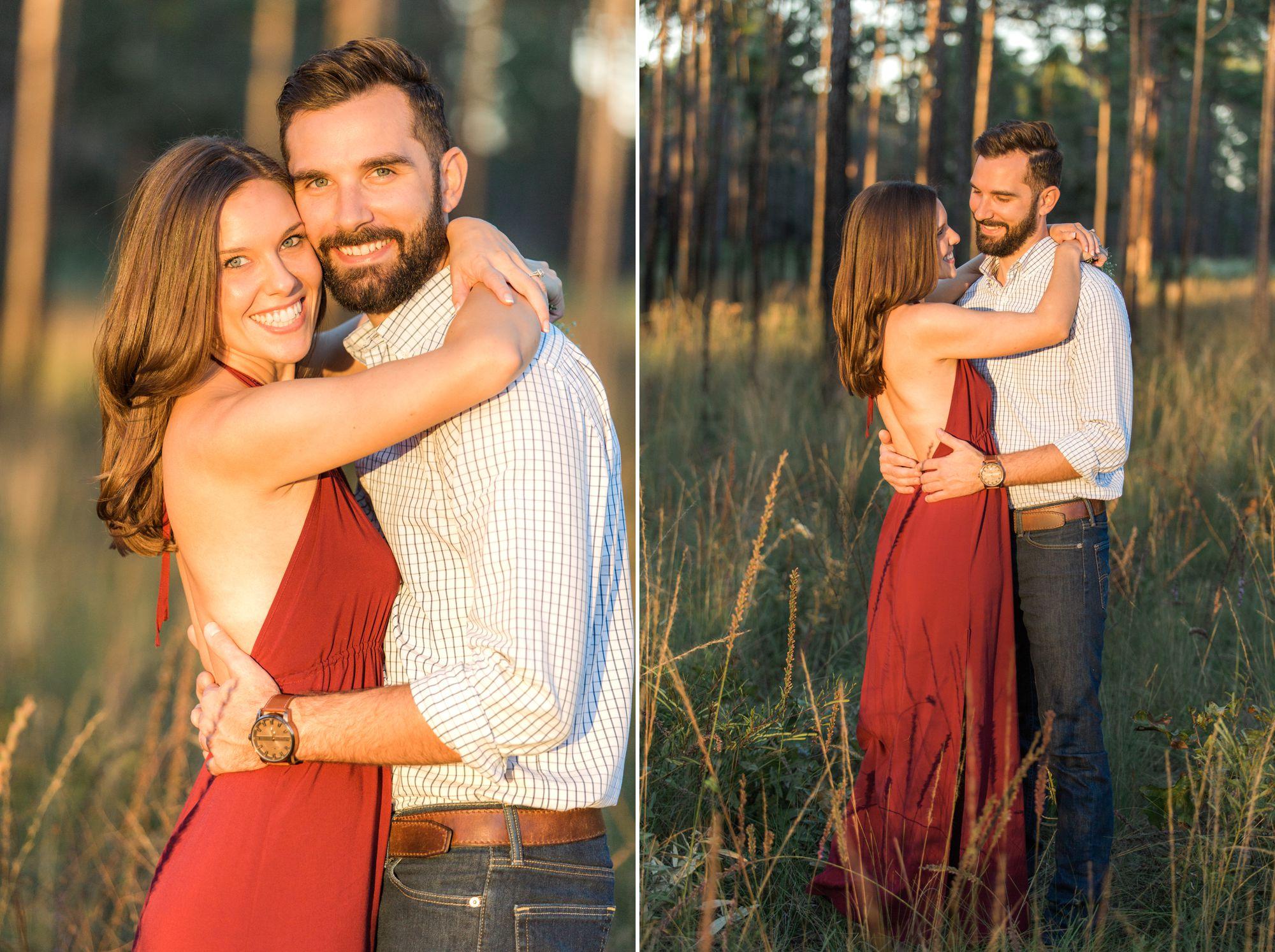 Romantic forest engagement couples photos in Orlando at Wekiva Springs via shainadeciryan.com