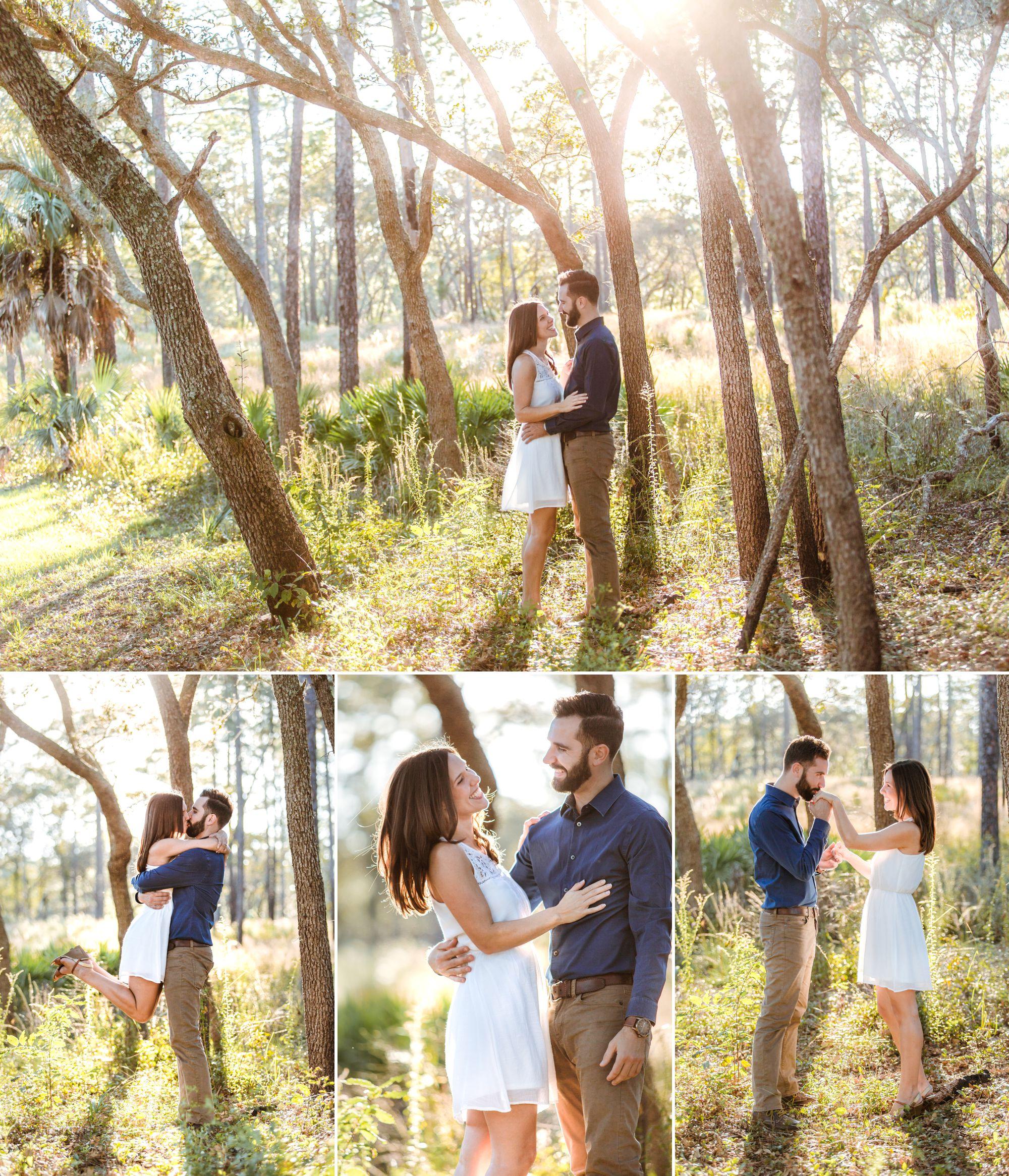 Magical sunset engagement photos at Wekiva Springs State Park in Orlando, Florida | Shainadeciryan.com