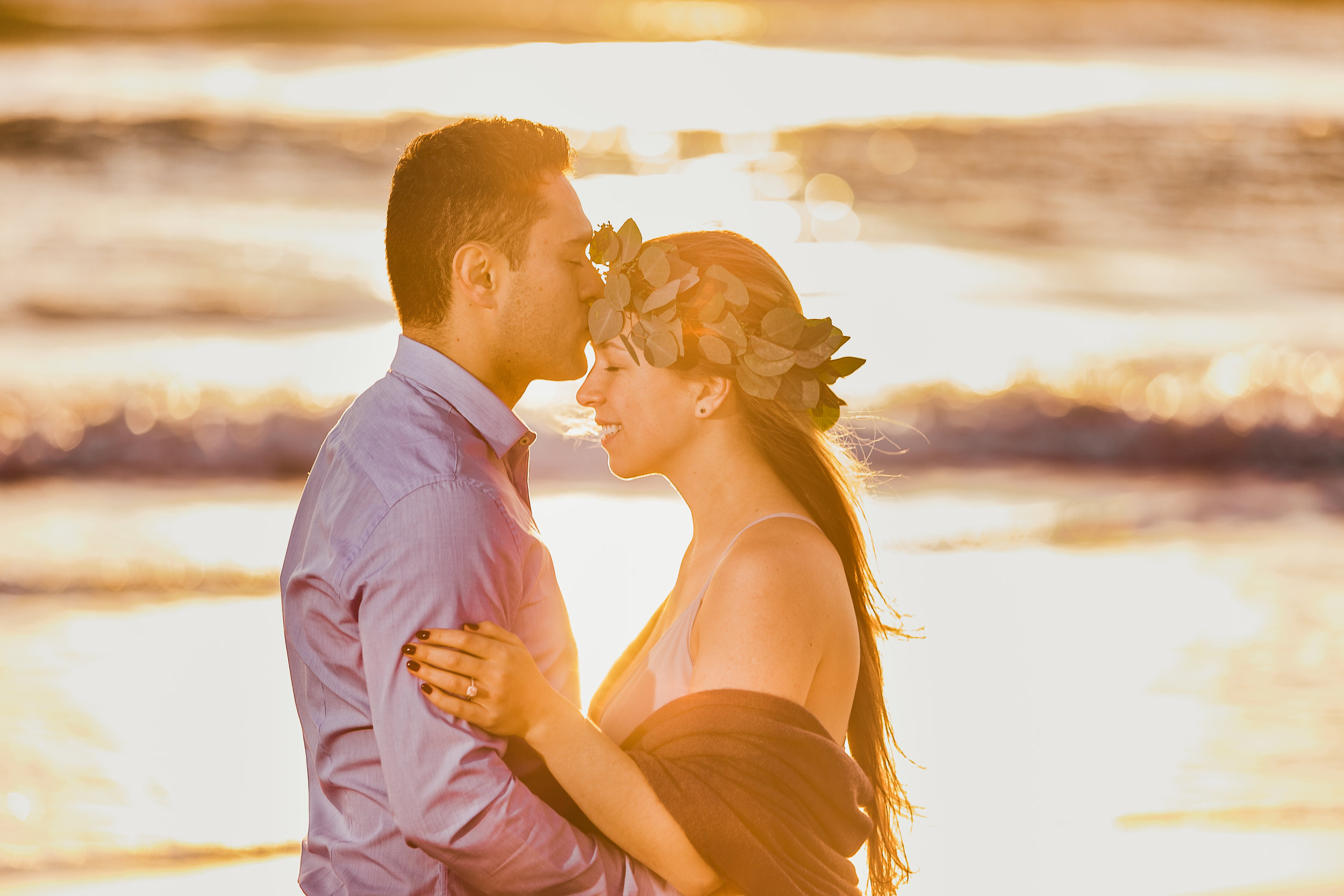 Elya + Andres - Cocoa Beach Engagement - boho bride organic eucalpytus crown mermaid forest4.jpg