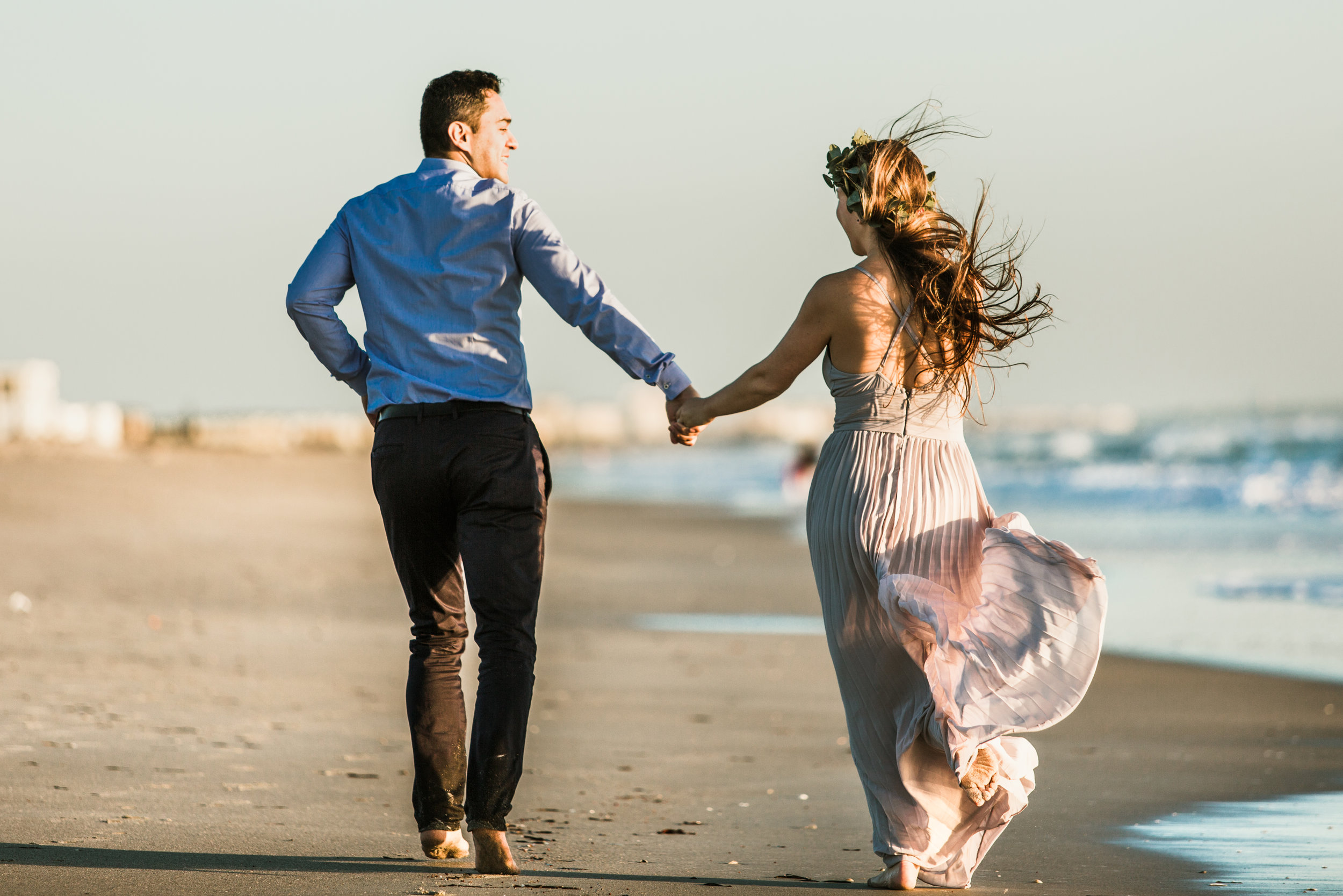 Elya + Andres - Cocoa Beach Engagement - boho bride organic eucalpytus crown mermaid forest5.jpg