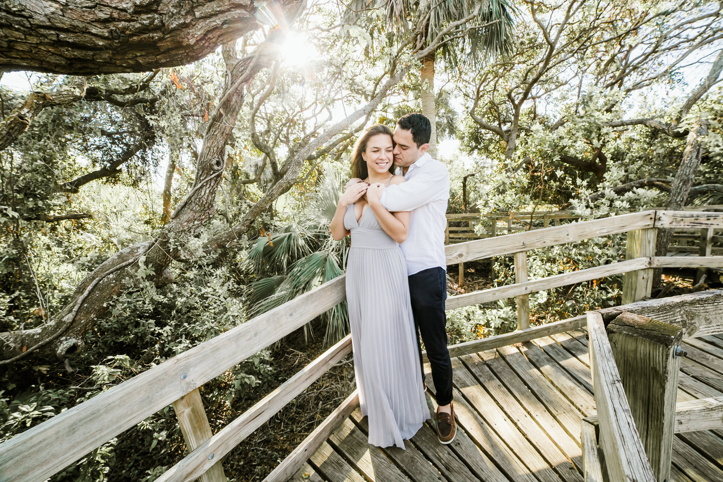 Elya + Andres - Cocoa Beach Engagement - boho bride organic eucalpytus crown mermaid forest11.jpg
