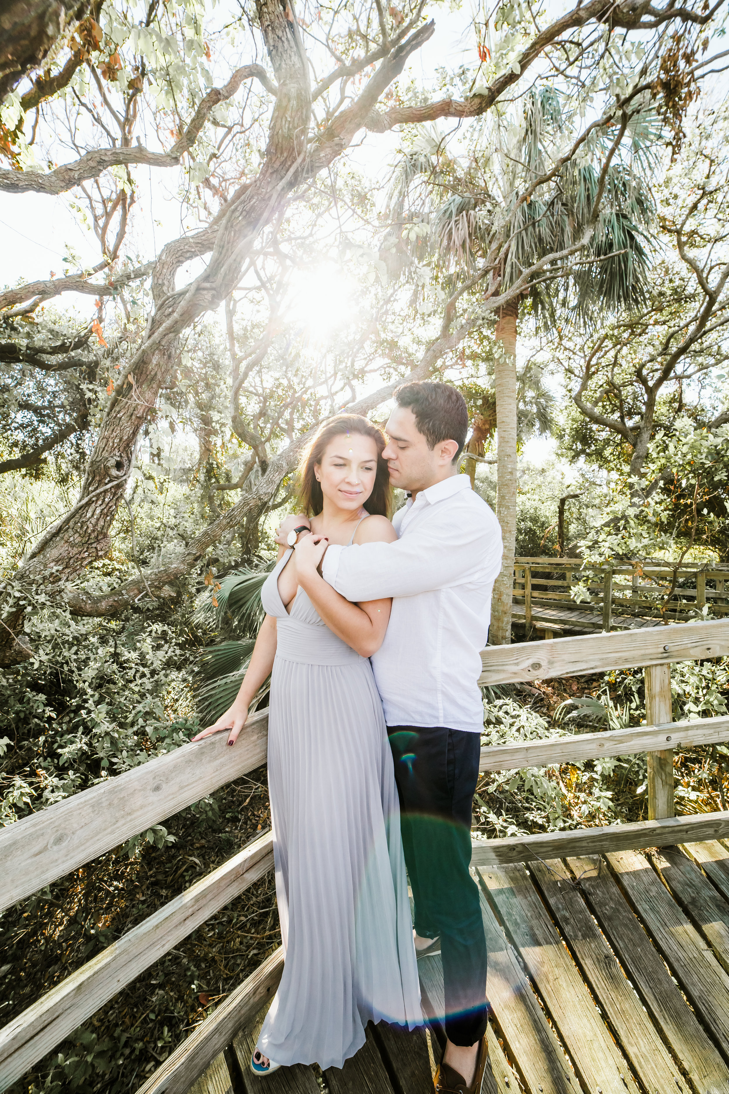 Elya + Andres - Cocoa Beach Engagement - boho bride organic eucalpytus crown mermaid forest12.jpg