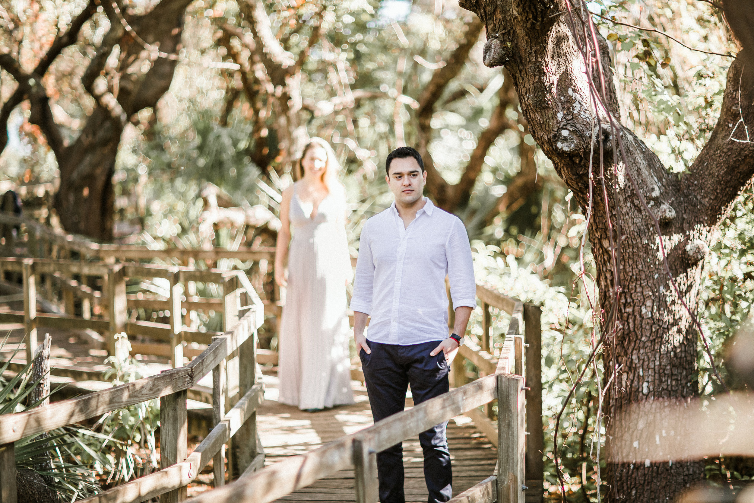 Elya + Andres - Cocoa Beach Engagement - boho bride organic eucalpytus crown mermaid forest15.jpg