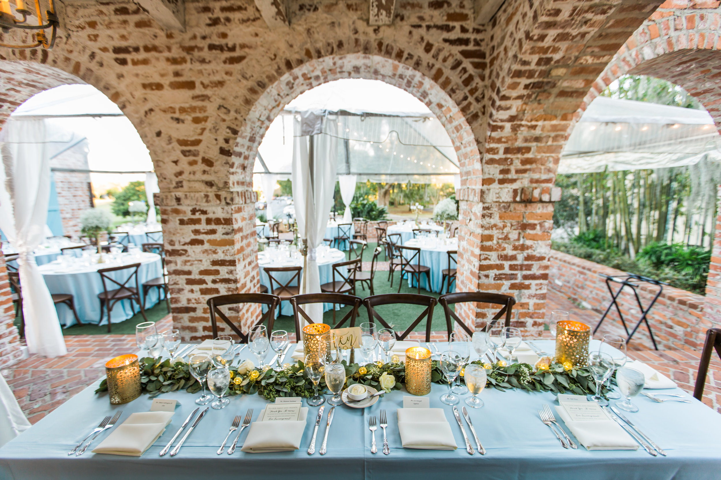 Erica & Aaron's enchanting powder blue & eucalyptus inspired wedding at the Casa Feliz Historic Home, with floral design by Simply Roses and decor by Kristy Rapp Events.
