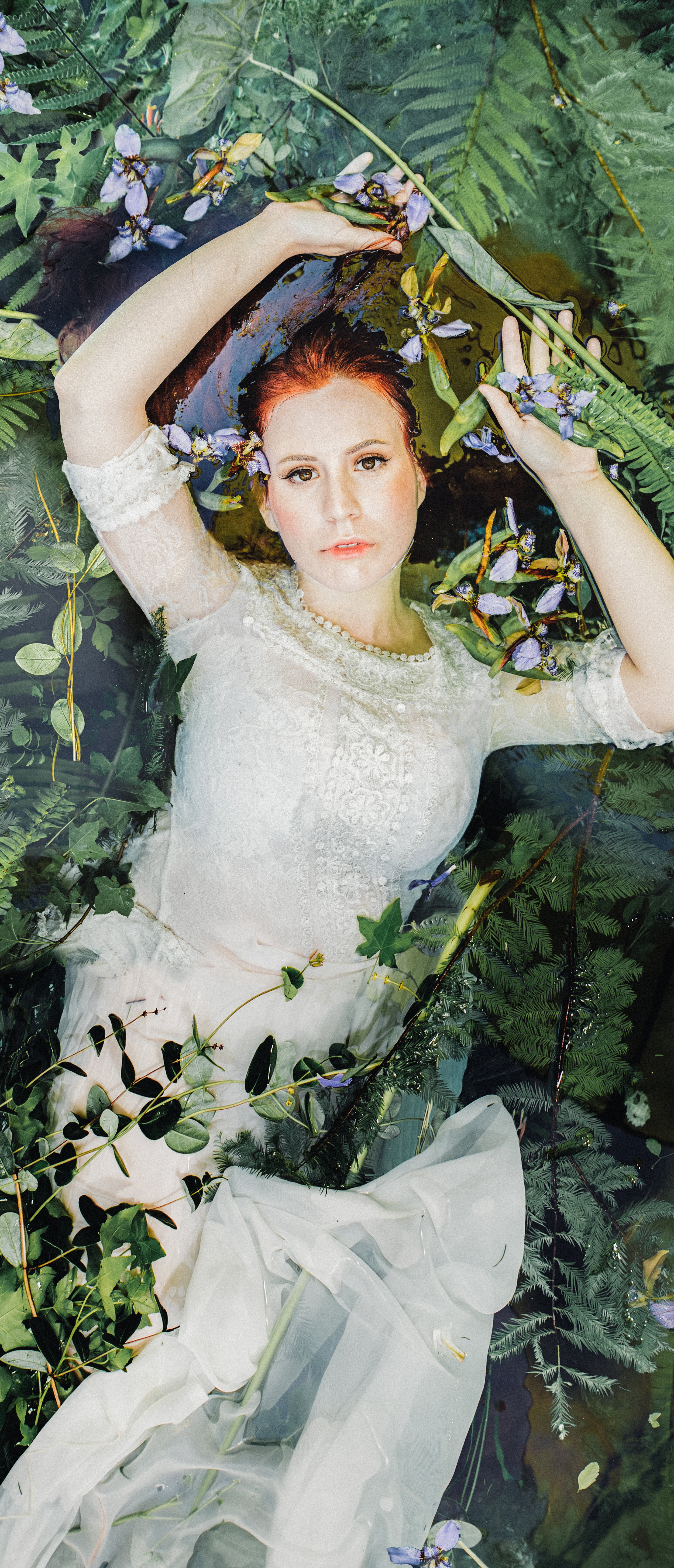 """Ophelia's Water Forest // A portrait series inspired by the story of Ophelia, the idea of rebirth, connecting with nature & water, and the poem """"Sleeping in the Forest"""" by  Mary Oliver  //Photography + Creative direction: Shaina DeCiryan  @shainadeciryan  Photography 