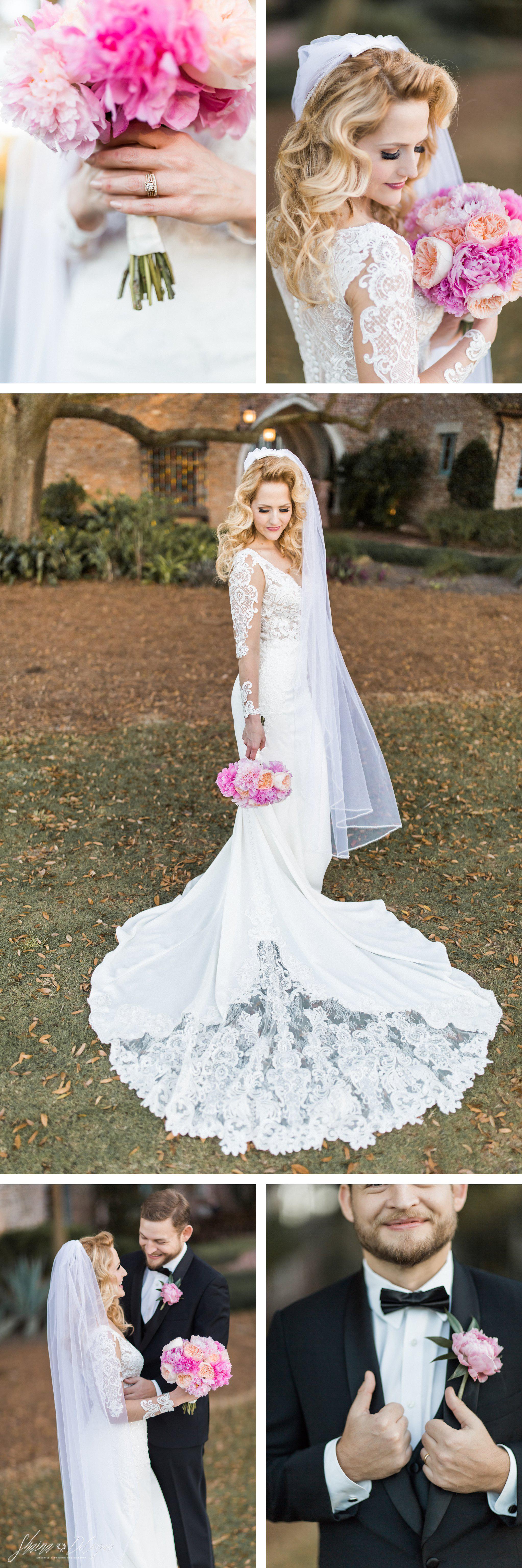 Bridal portraits at her Retro Hollywood Glam Casa Feliz Wedding