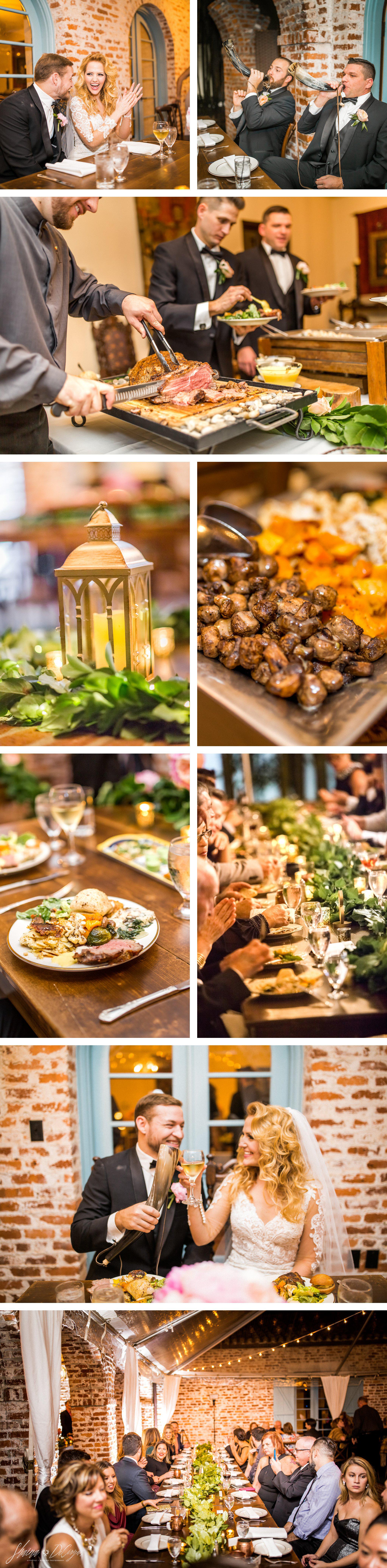Incredible Reception food by Arthur's Catering at a Retro Hollywood Glam Casa Feliz Wedding