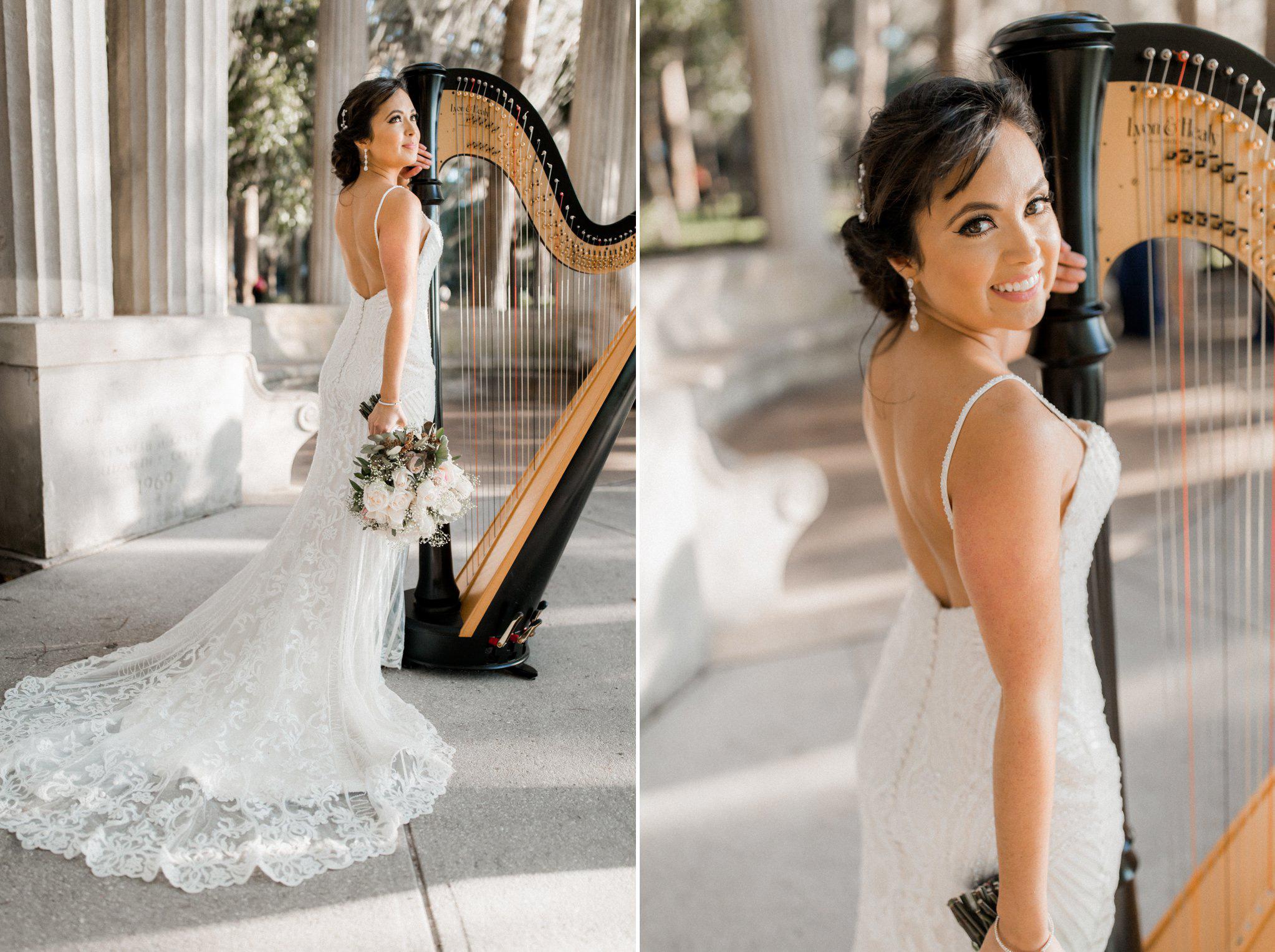 Romantic Secret Garden Navy + Pink Wedding with Harpist- Kraft Azalea Gardens - The Alzates 45.jpg