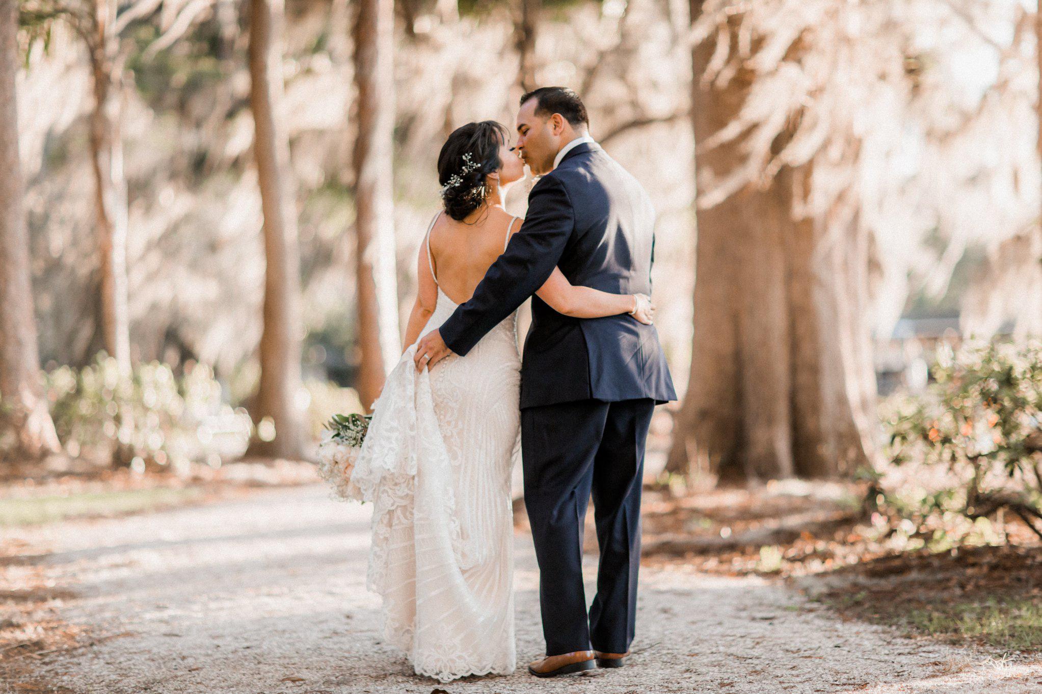 Romantic Secret Garden Navy + Pink Wedding with Harpist- Kraft Azalea Gardens - The Alzates 59.jpg