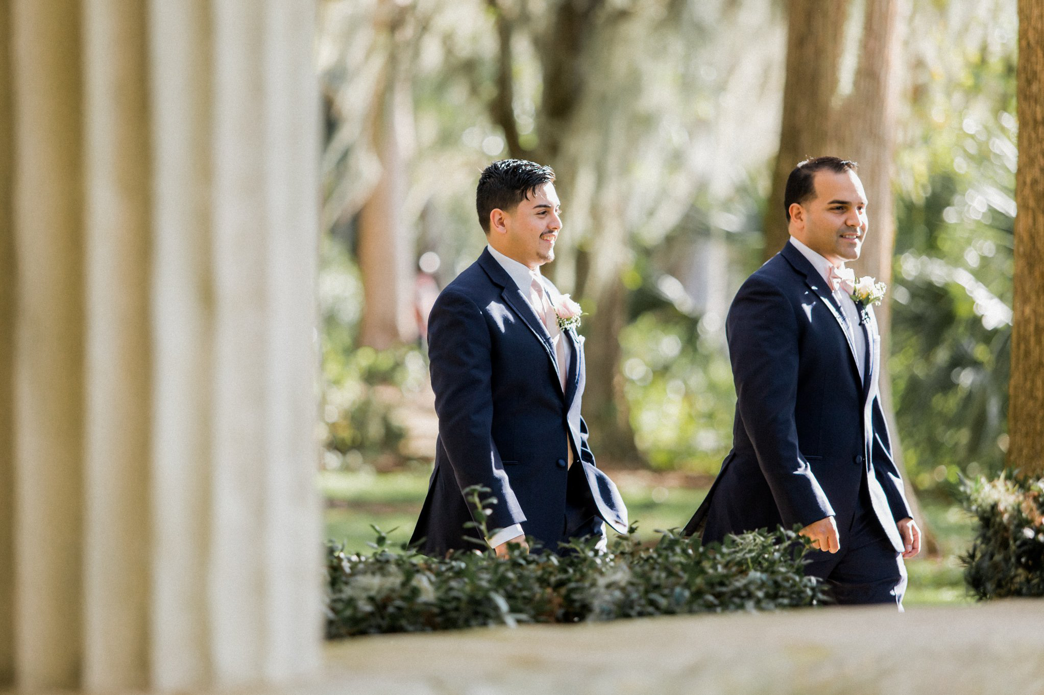 Romantic Secret Garden Navy + Pink Wedding with Harpist- Kraft Azalea Gardens - The Alzates 24.jpg