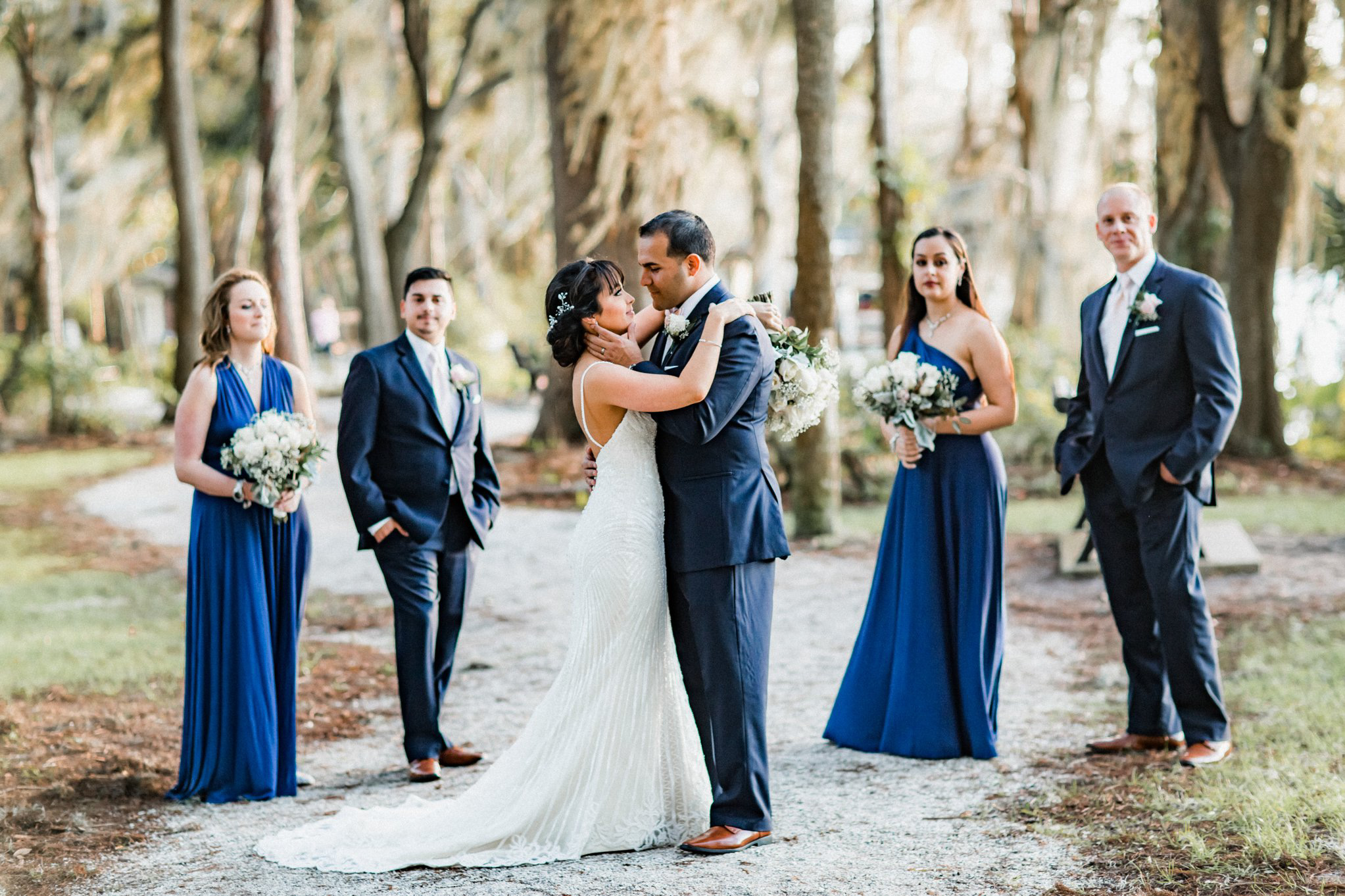 Romantic Secret Garden Navy + Pink Wedding with Harpist- Kraft Azalea Gardens - The Alzates 52.jpg